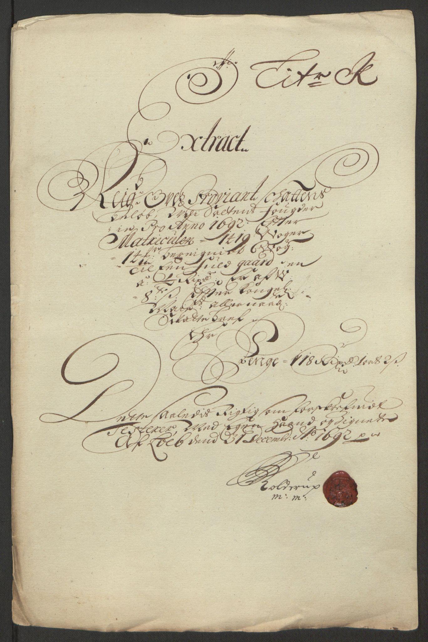 RA, Rentekammeret inntil 1814, Reviderte regnskaper, Fogderegnskap, R66/L4577: Fogderegnskap Salten, 1691-1693, s. 230