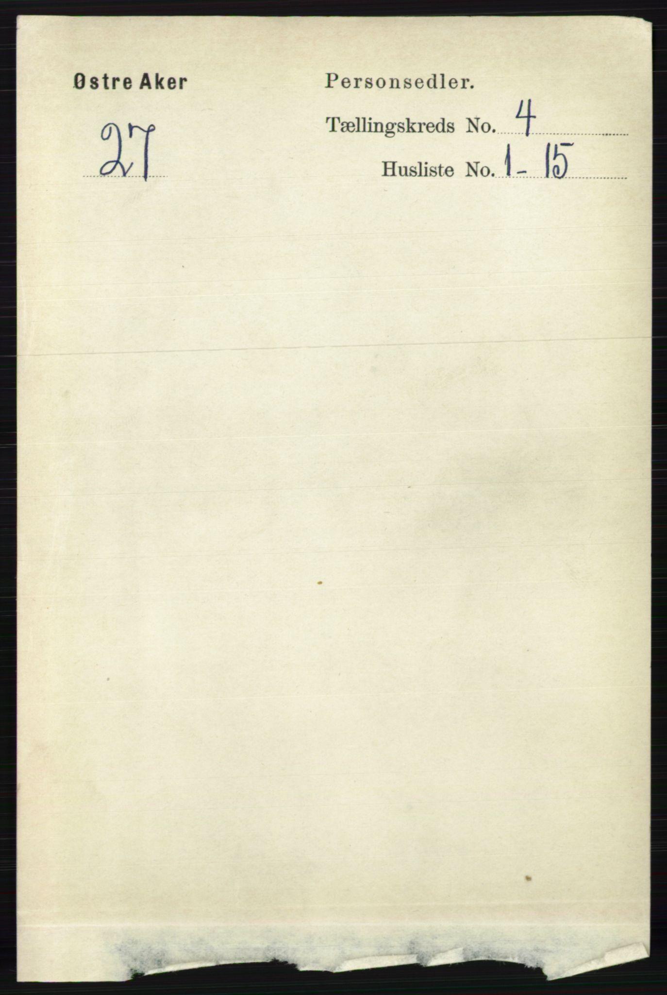 RA, Folketelling 1891 for 0218 Aker herred, 1891, s. 3924