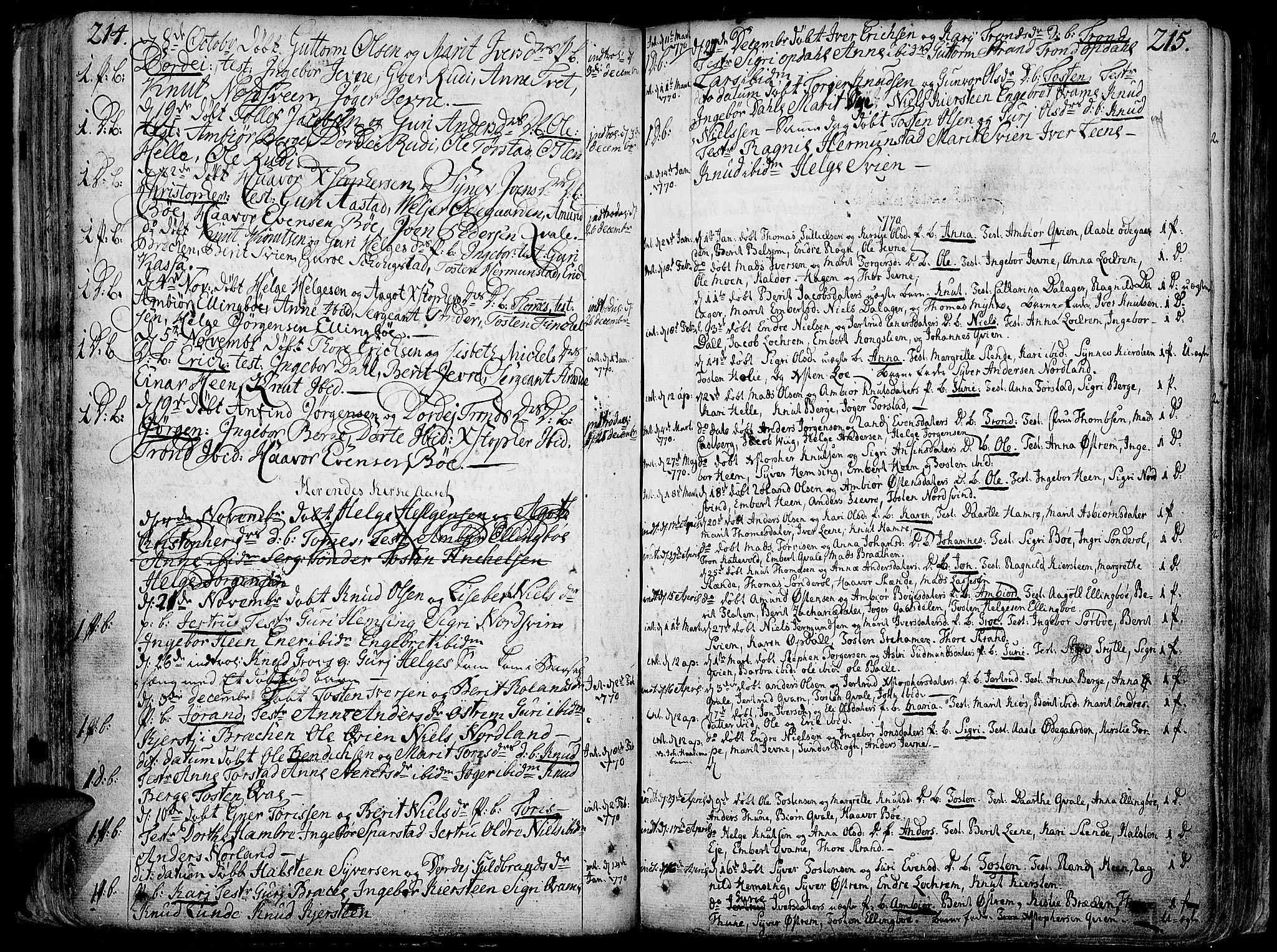 SAH, Vang prestekontor, Valdres, Ministerialbok nr. 1, 1730-1796, s. 214-215
