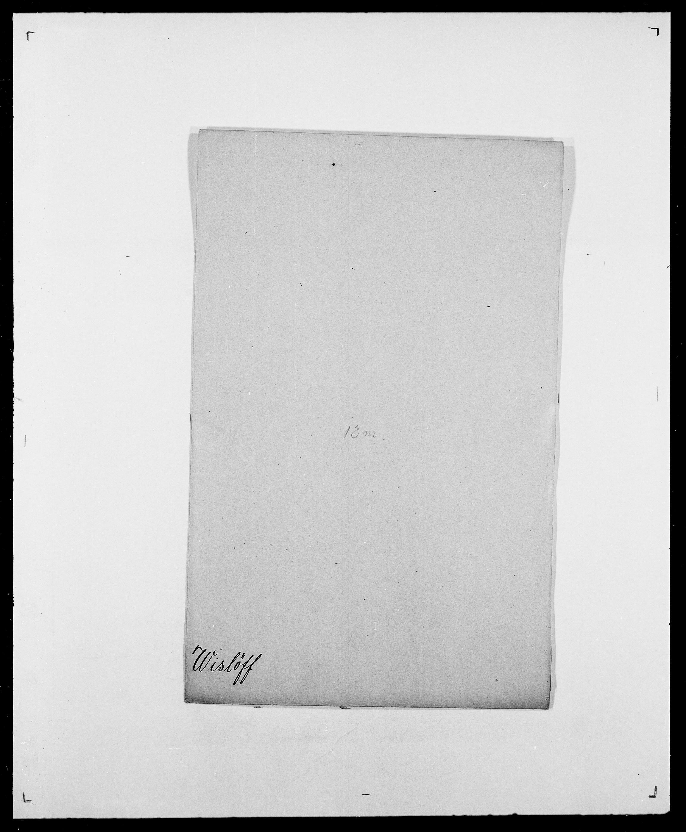 SAO, Delgobe, Charles Antoine - samling, D/Da/L0042: Vilain - Wulf, Wulff, se også Wolf, s. 384