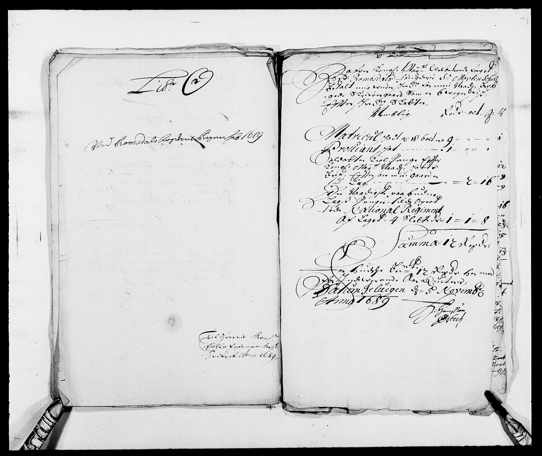 RA, Rentekammeret inntil 1814, Reviderte regnskaper, Fogderegnskap, R55/L3648: Fogderegnskap Romsdal, 1687-1689, s. 403