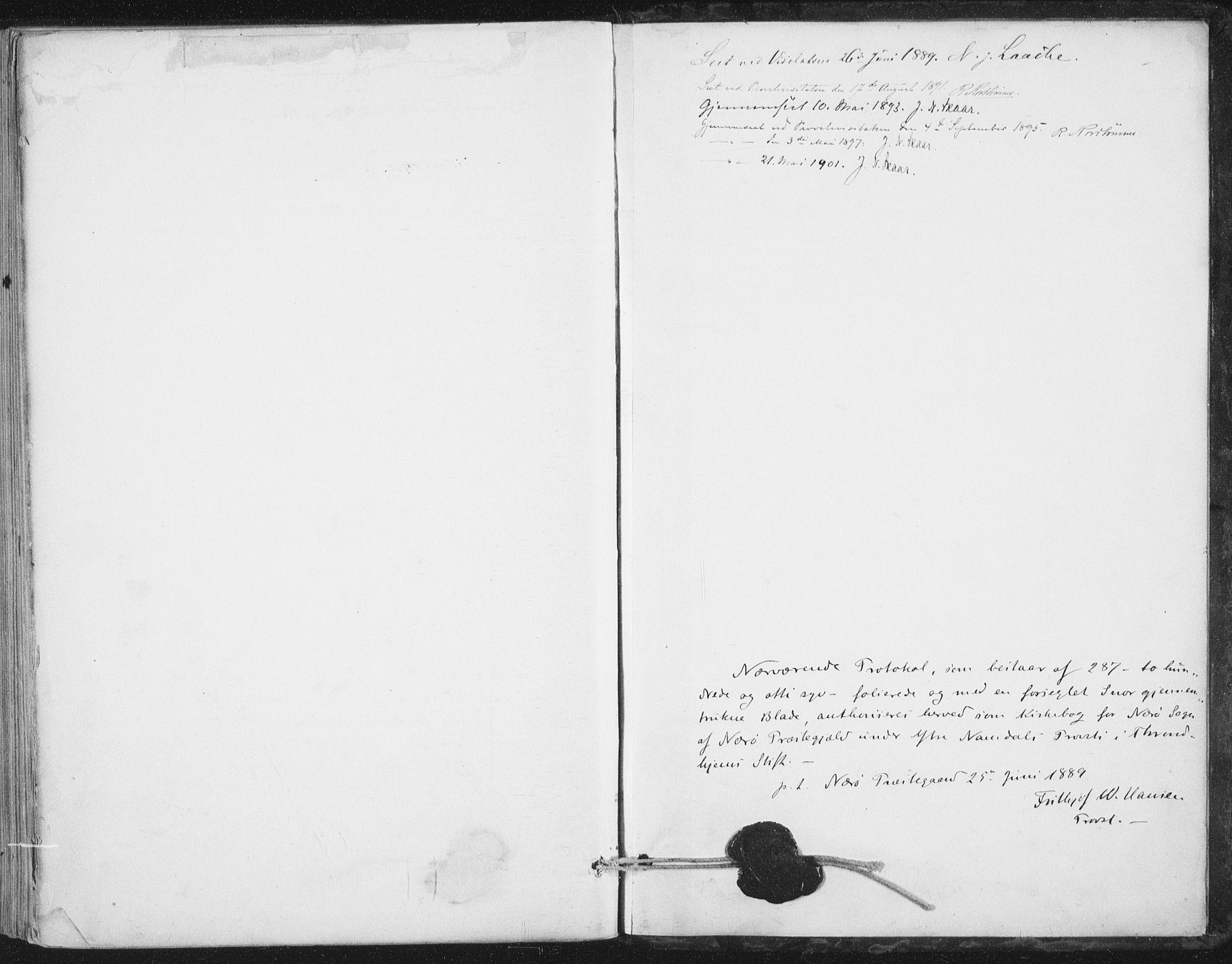 SAT, Ministerialprotokoller, klokkerbøker og fødselsregistre - Nord-Trøndelag, 784/L0673: Ministerialbok nr. 784A08, 1888-1899