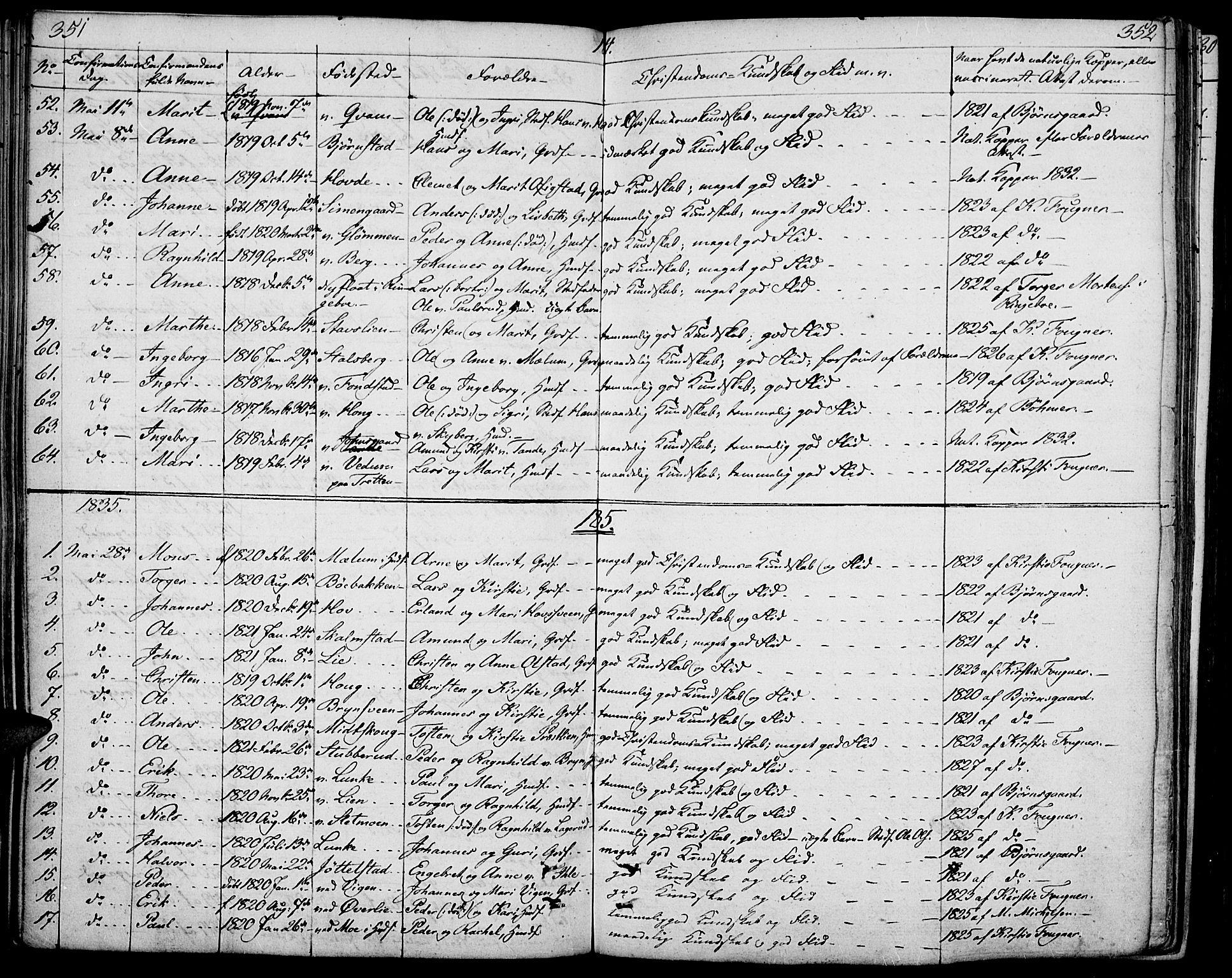 SAH, Øyer prestekontor, Ministerialbok nr. 4, 1824-1841, s. 351-352