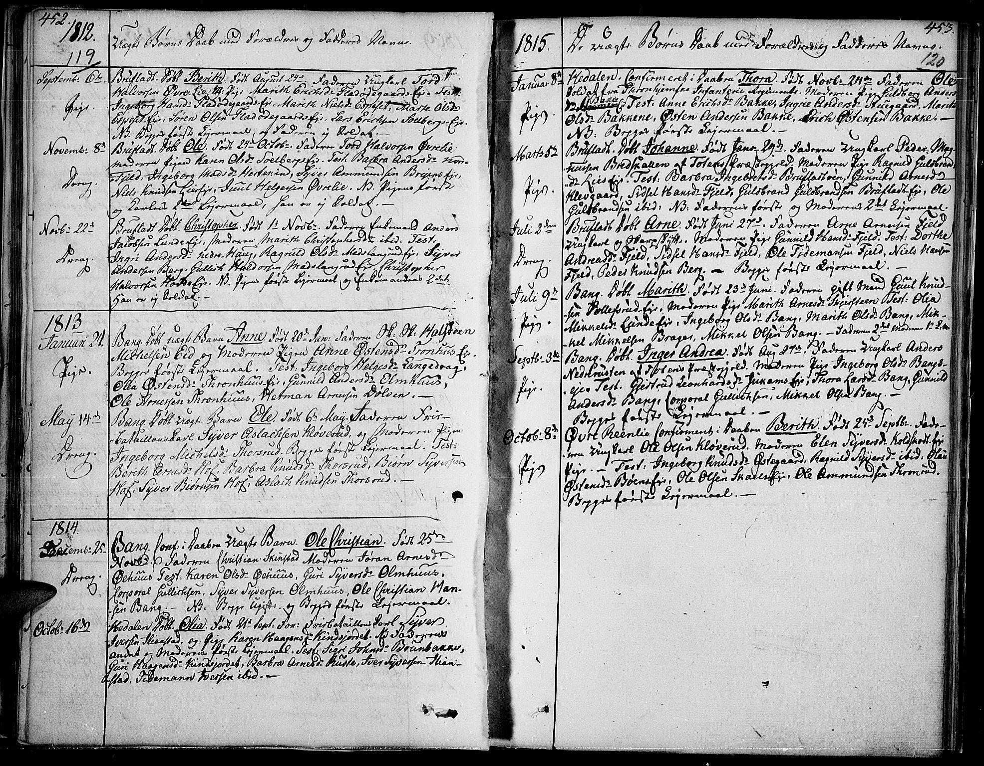 SAH, Sør-Aurdal prestekontor, Ministerialbok nr. 1, 1807-1815, s. 119-120