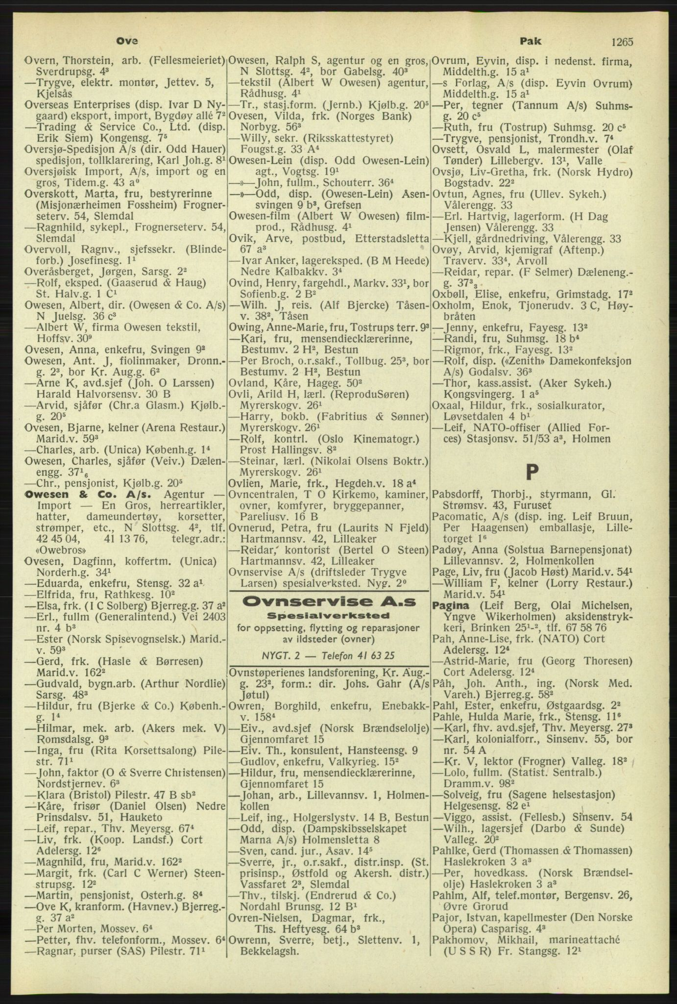 PUBL, Kristiania/Oslo adressebok, 1958-1959, s. 1265