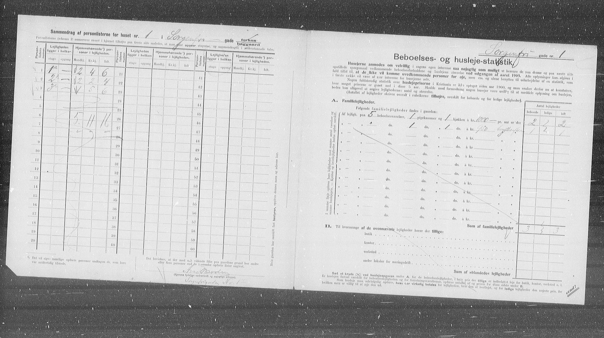 OBA, Kommunal folketelling 1905 for Kristiania kjøpstad, 1905, s. 51778