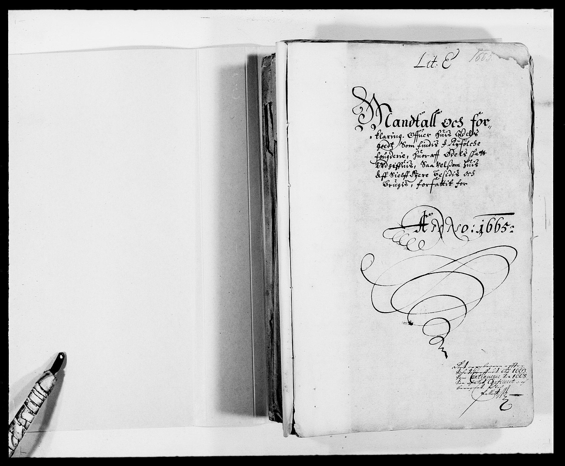 RA, Rentekammeret inntil 1814, Reviderte regnskaper, Fogderegnskap, R47/L2840: Fogderegnskap Ryfylke, 1665-1669, s. 2