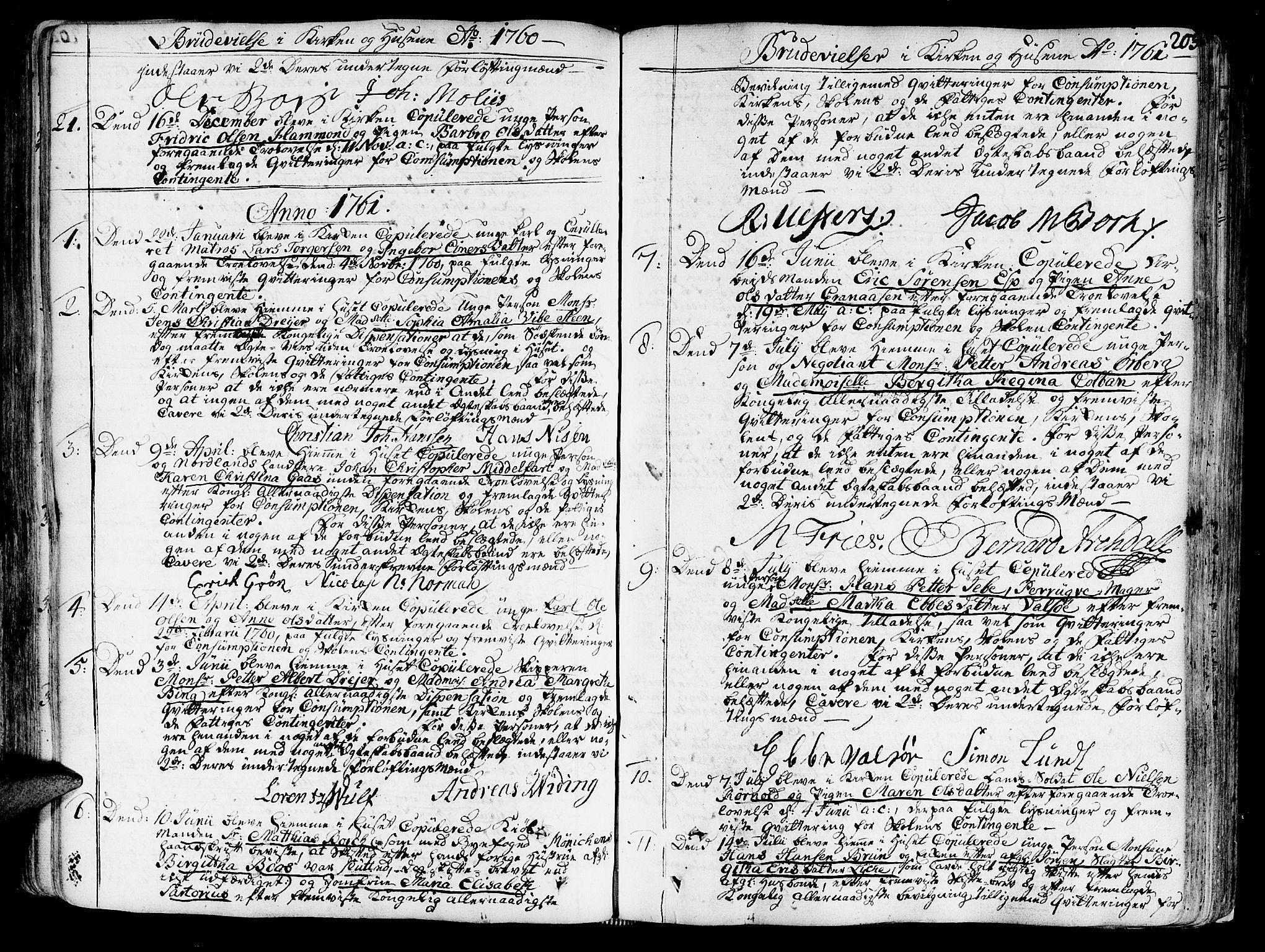 SAT, Ministerialprotokoller, klokkerbøker og fødselsregistre - Sør-Trøndelag, 602/L0103: Ministerialbok nr. 602A01, 1732-1774, s. 203