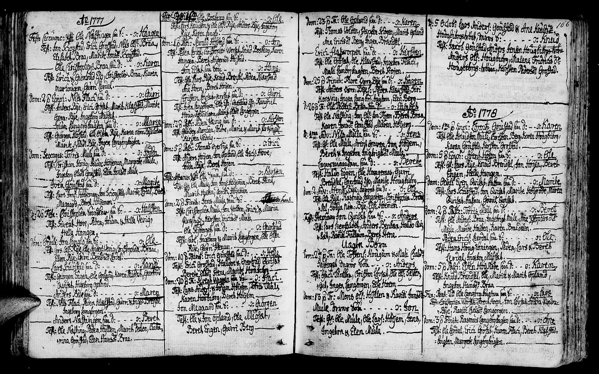 SAT, Ministerialprotokoller, klokkerbøker og fødselsregistre - Sør-Trøndelag, 612/L0370: Ministerialbok nr. 612A04, 1754-1802, s. 106