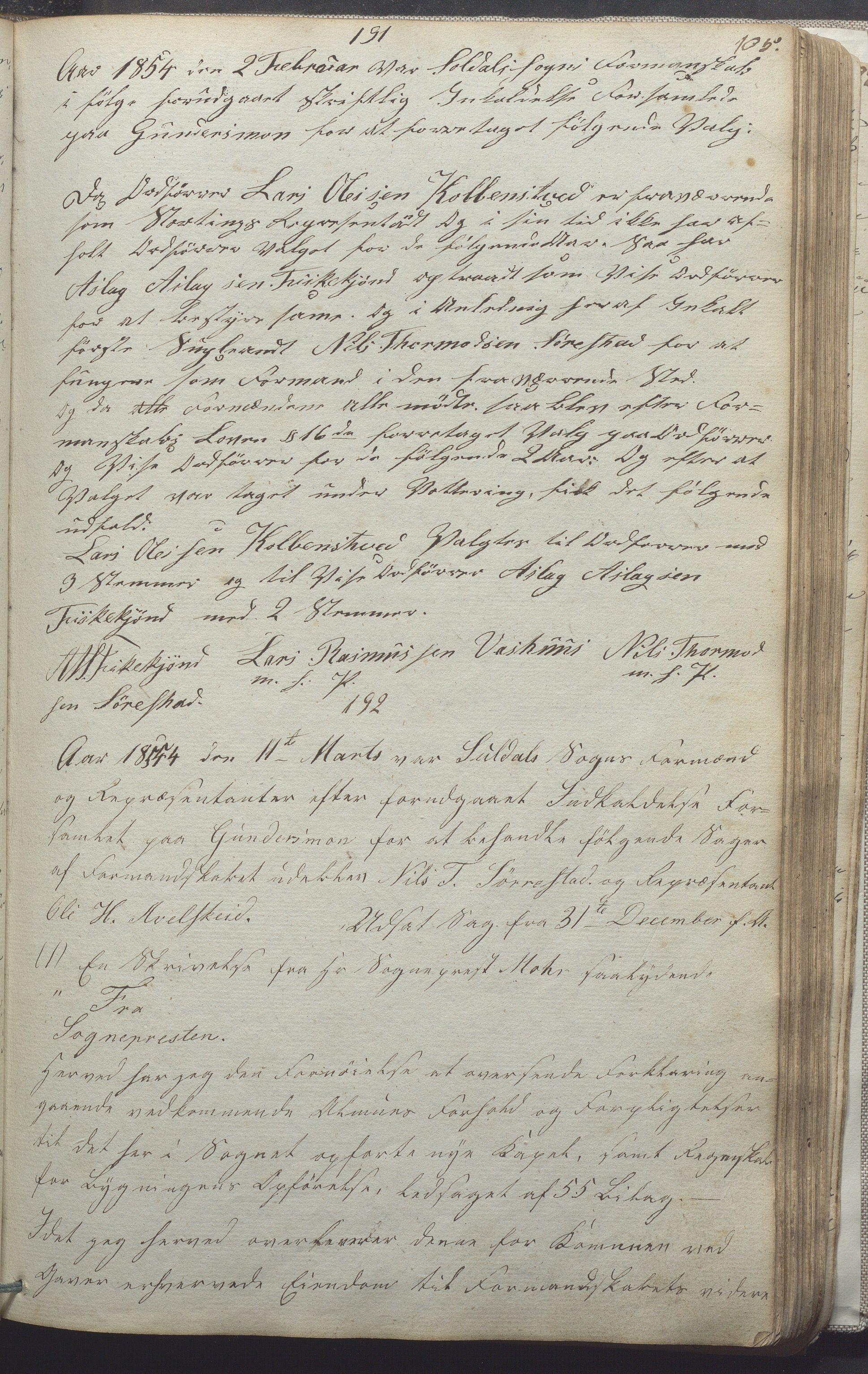 IKAR, Suldal kommune - Formannskapet/Rådmannen, A/Aa/L0001: Møtebok, 1837-1876, s. 105a