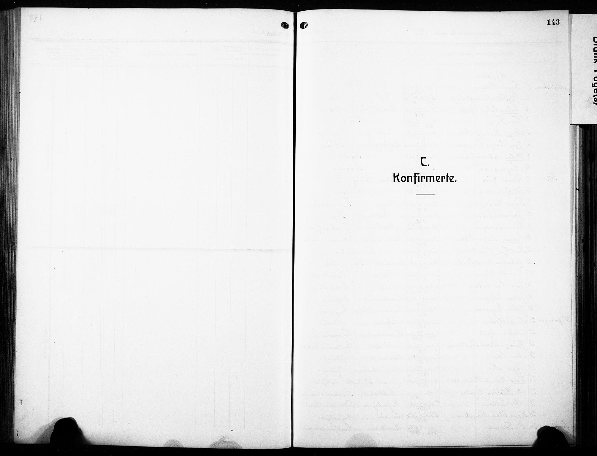 SAH, Østre Toten prestekontor, Klokkerbok nr. 10, 1912-1933, s. 143