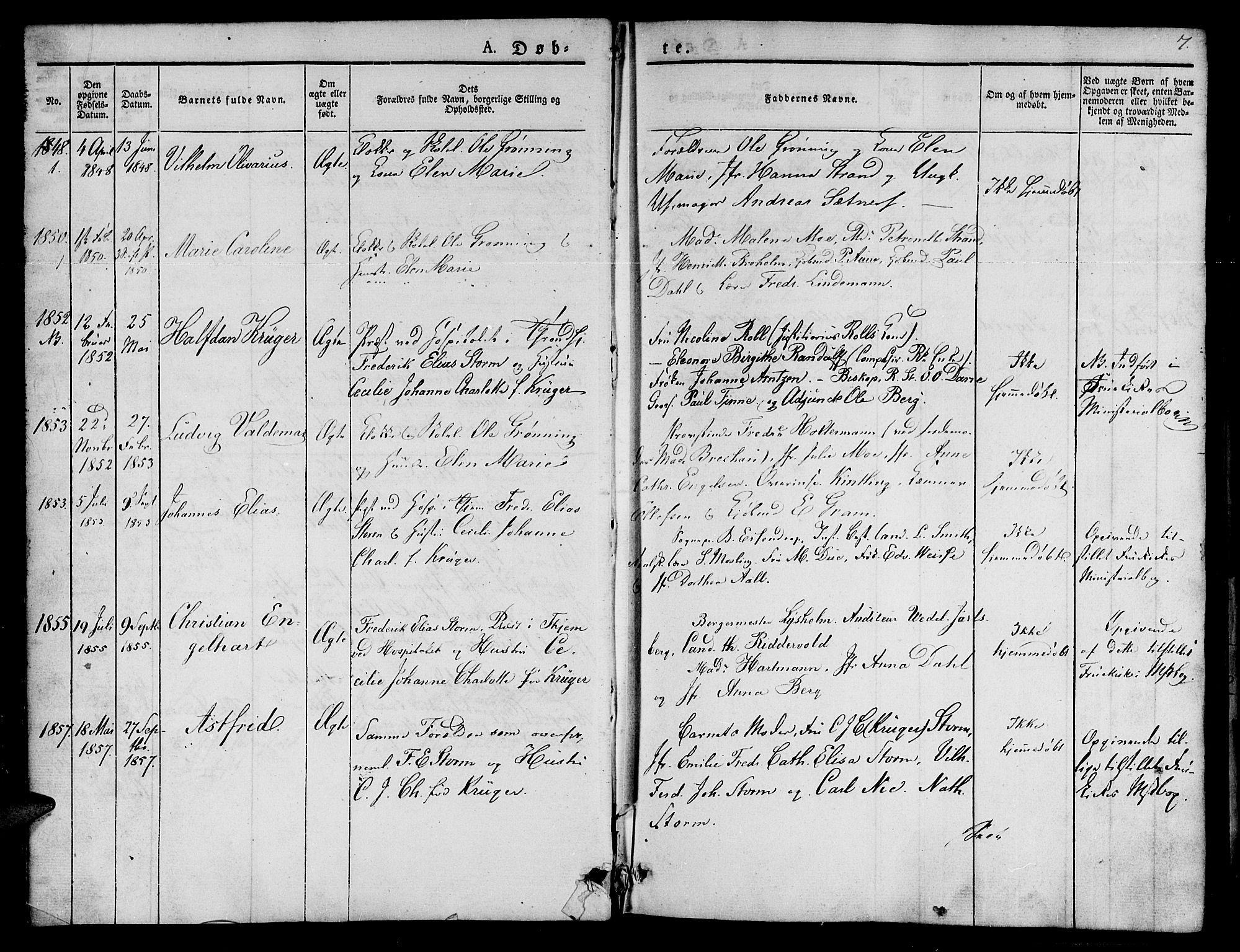 SAT, Ministerialprotokoller, klokkerbøker og fødselsregistre - Sør-Trøndelag, 623/L0468: Ministerialbok nr. 623A02, 1826-1867, s. 7