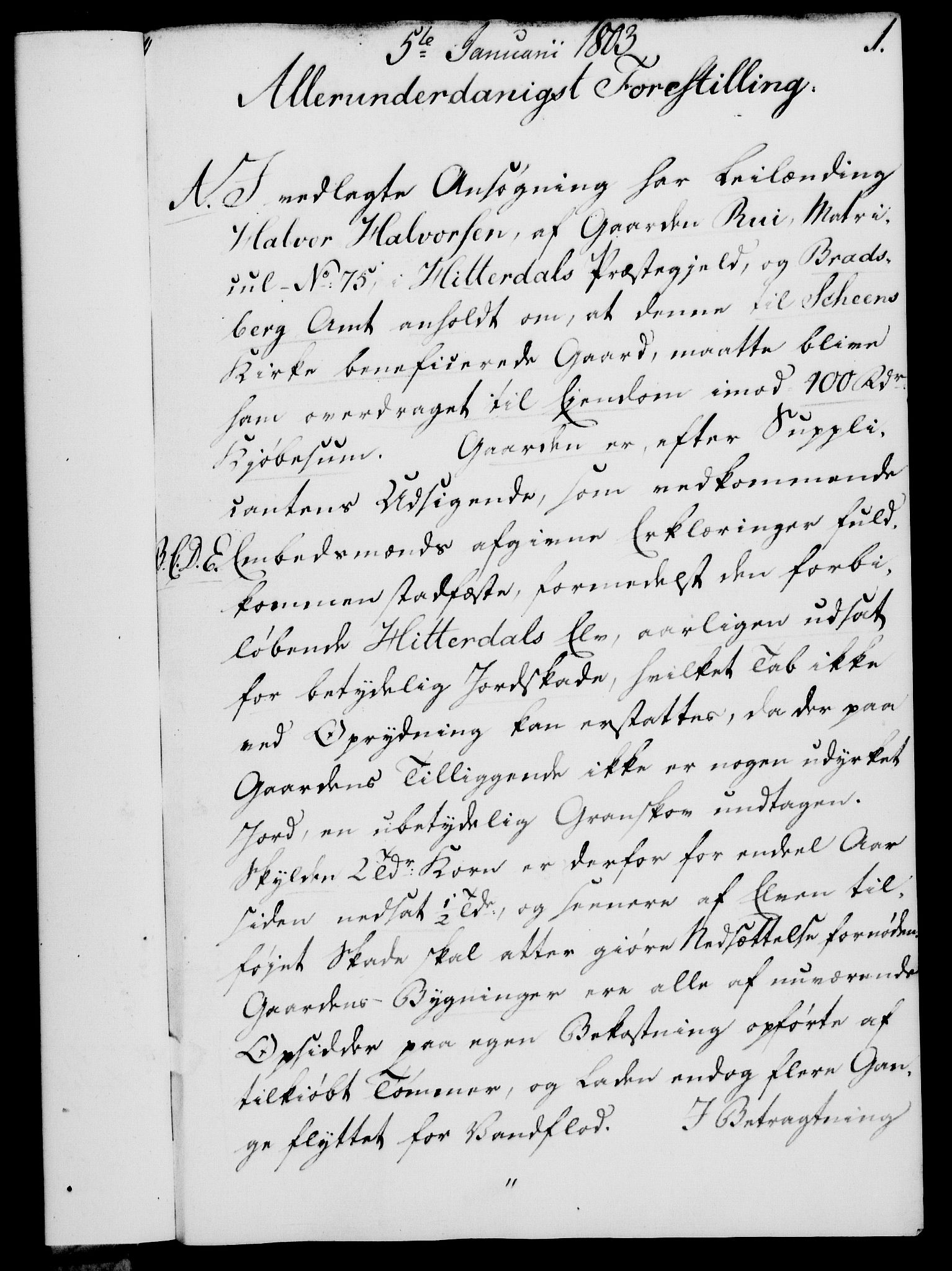 RA, Rentekammeret, Kammerkanselliet, G/Gf/Gfa/L0085: Norsk relasjons- og resolusjonsprotokoll (merket RK 52.85), 1803, s. 27