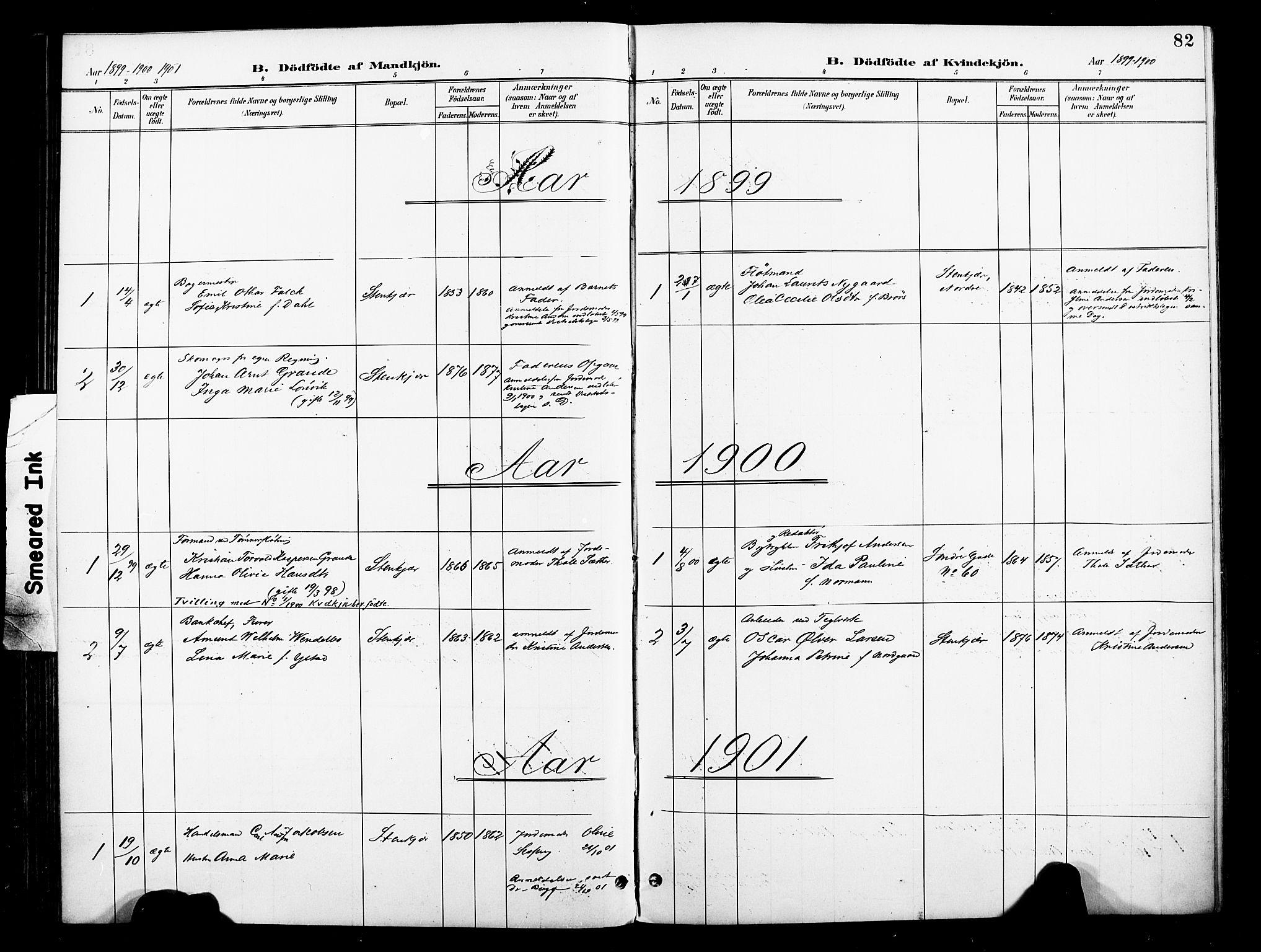 SAT, Ministerialprotokoller, klokkerbøker og fødselsregistre - Nord-Trøndelag, 739/L0372: Ministerialbok nr. 739A04, 1895-1903, s. 82