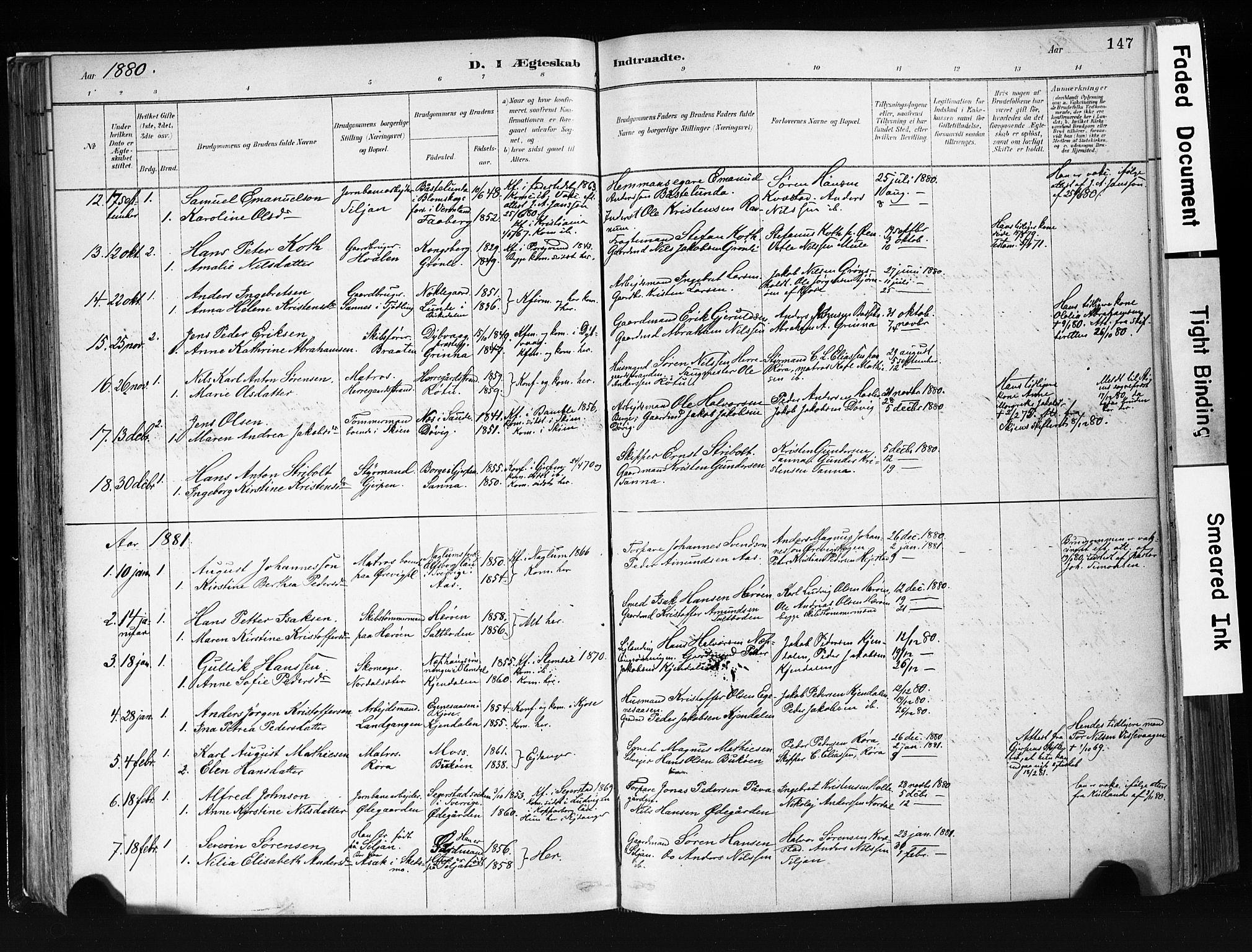 SAKO, Eidanger kirkebøker, F/Fa/L0012: Ministerialbok nr. 12, 1879-1900, s. 147