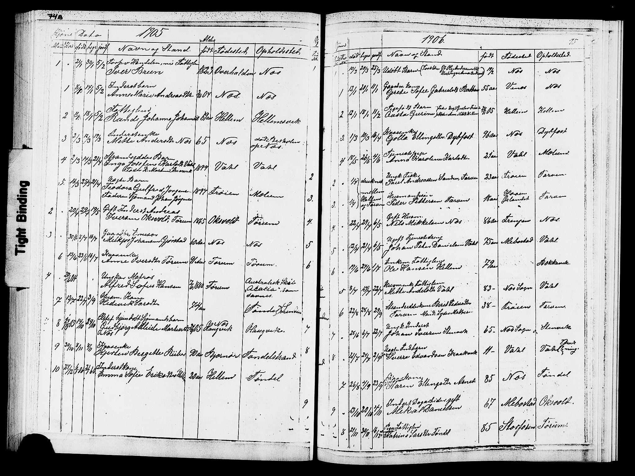 SAT, Ministerialprotokoller, klokkerbøker og fødselsregistre - Sør-Trøndelag, 652/L0653: Klokkerbok nr. 652C01, 1866-1910, s. 75