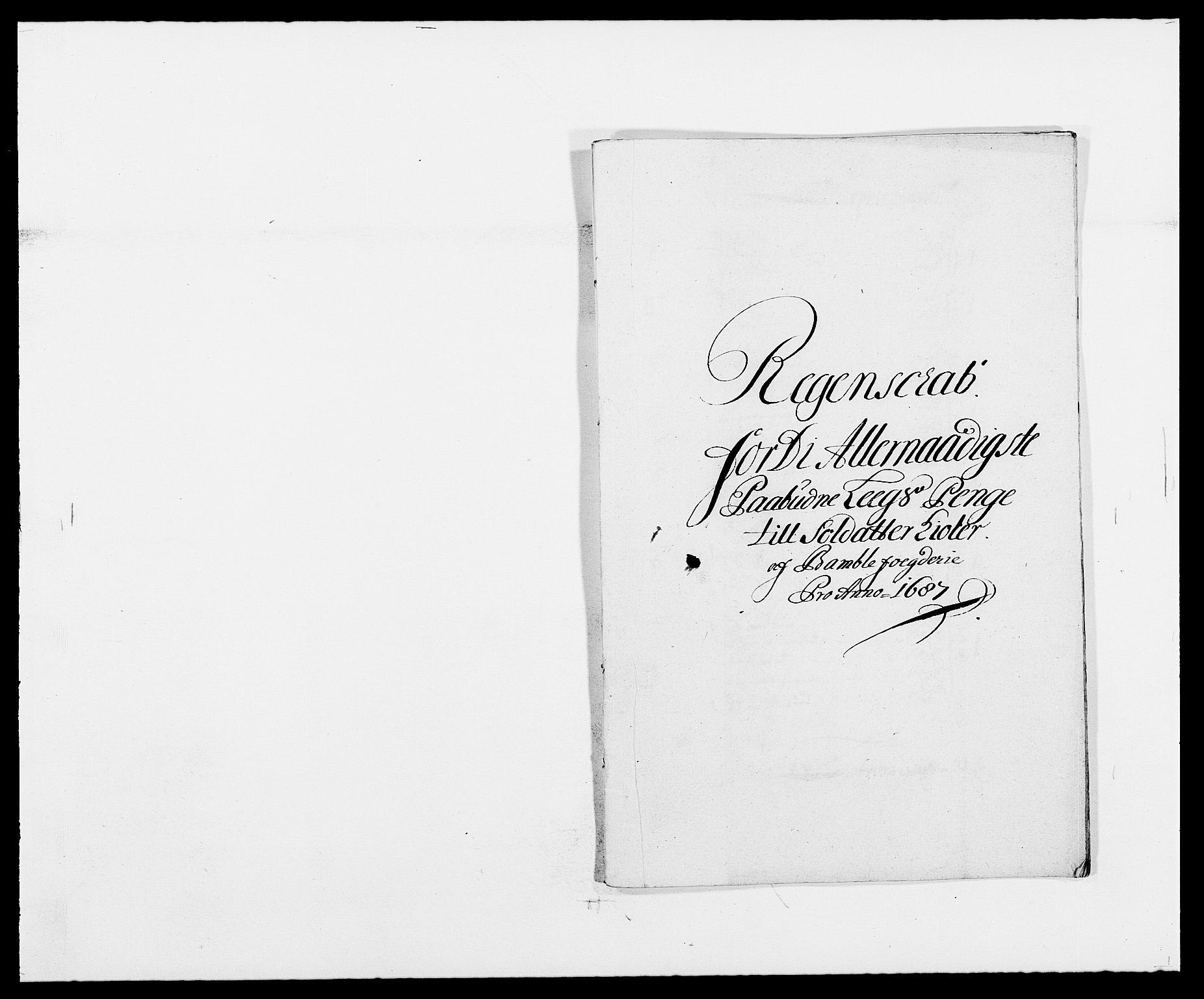 RA, Rentekammeret inntil 1814, Reviderte regnskaper, Fogderegnskap, R34/L2049: Fogderegnskap Bamble, 1685-1687, s. 294