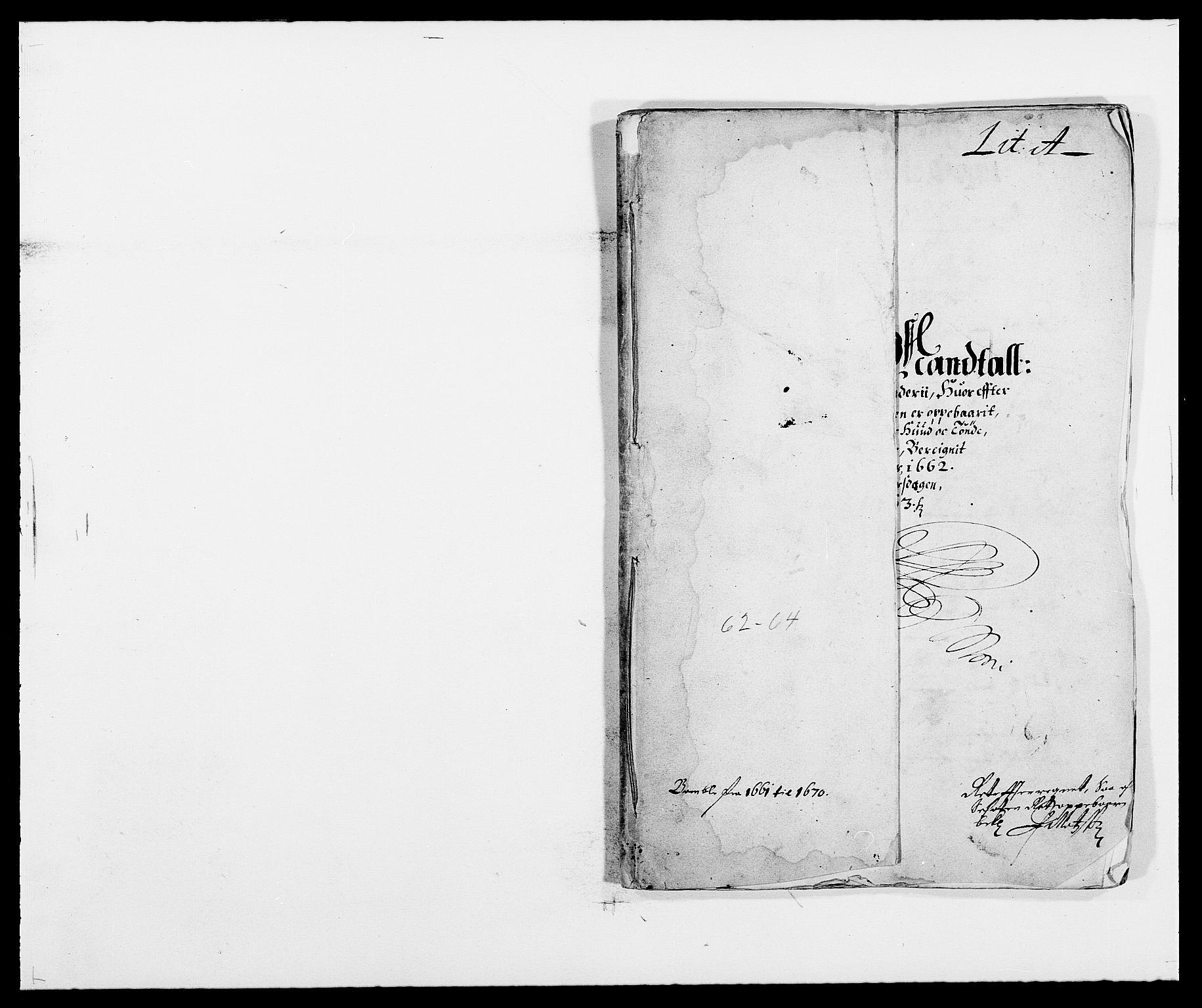 RA, Rentekammeret inntil 1814, Reviderte regnskaper, Fogderegnskap, R34/L2037: Fogderegnskap Bamble, 1662-1669, s. 10