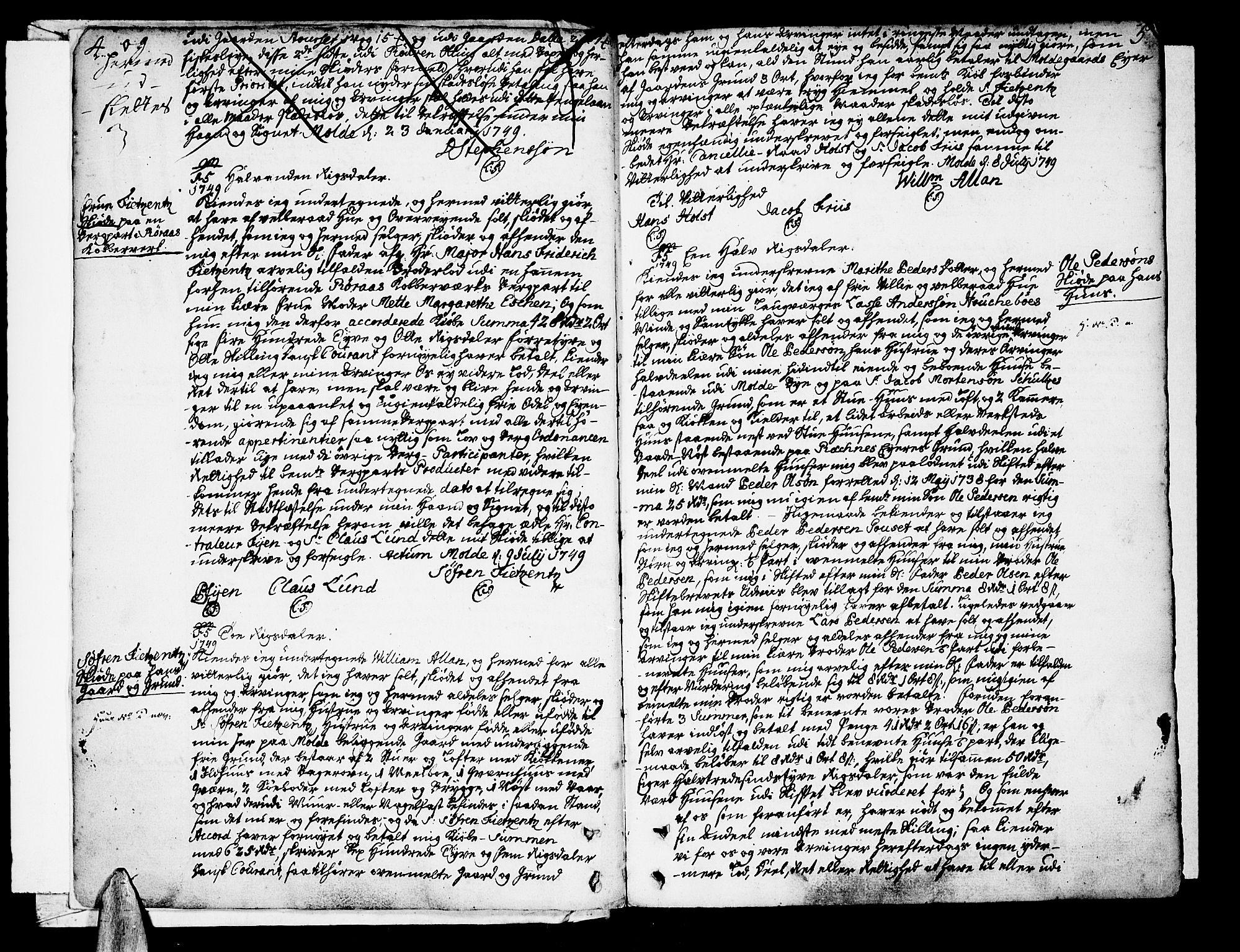SAT, Molde byfogd, 2/2C/L0001: Pantebok nr. 1, 1748-1823, s. 4-5