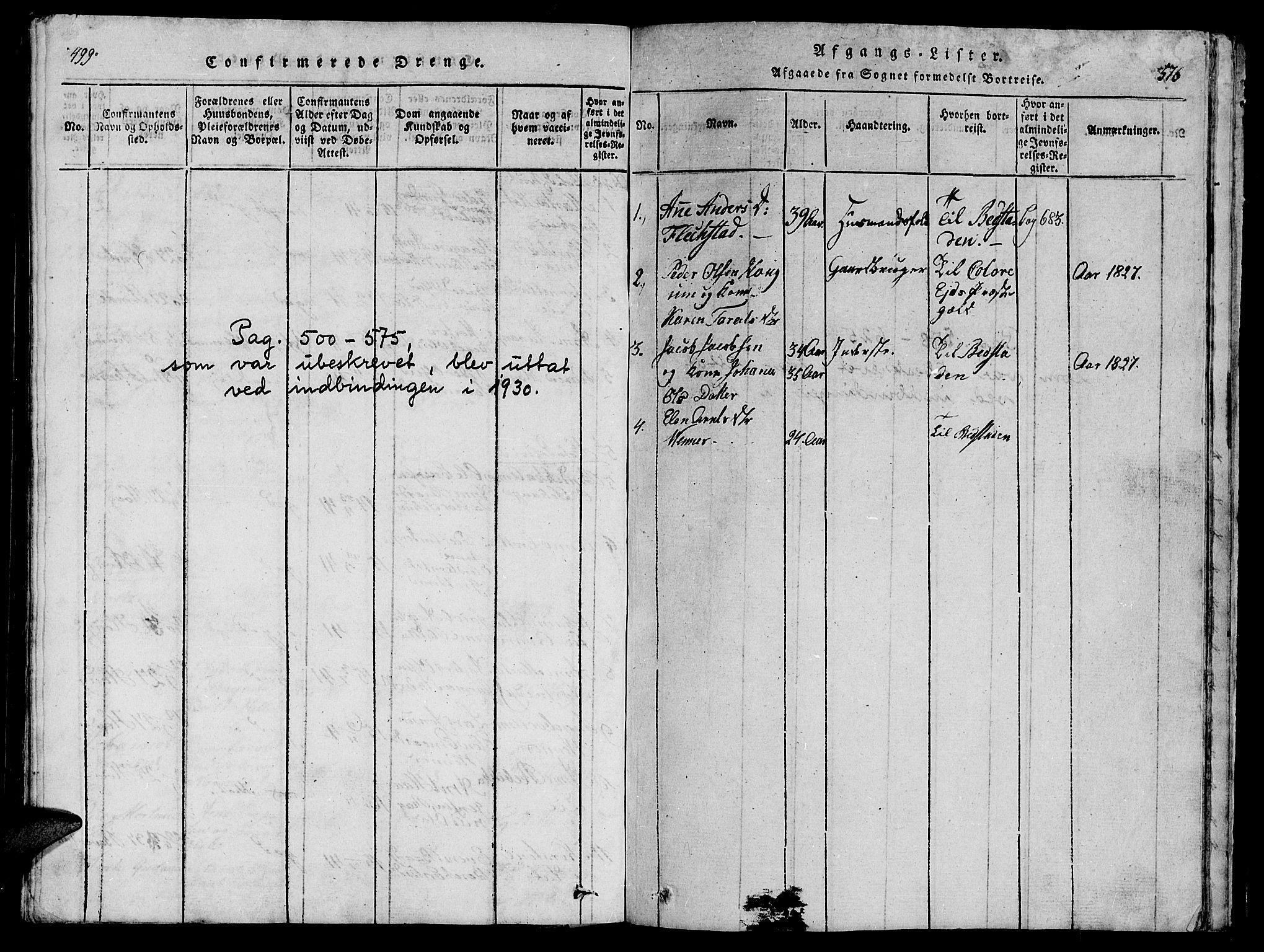 SAT, Ministerialprotokoller, klokkerbøker og fødselsregistre - Nord-Trøndelag, 747/L0459: Klokkerbok nr. 747C01, 1816-1842, s. 499-576