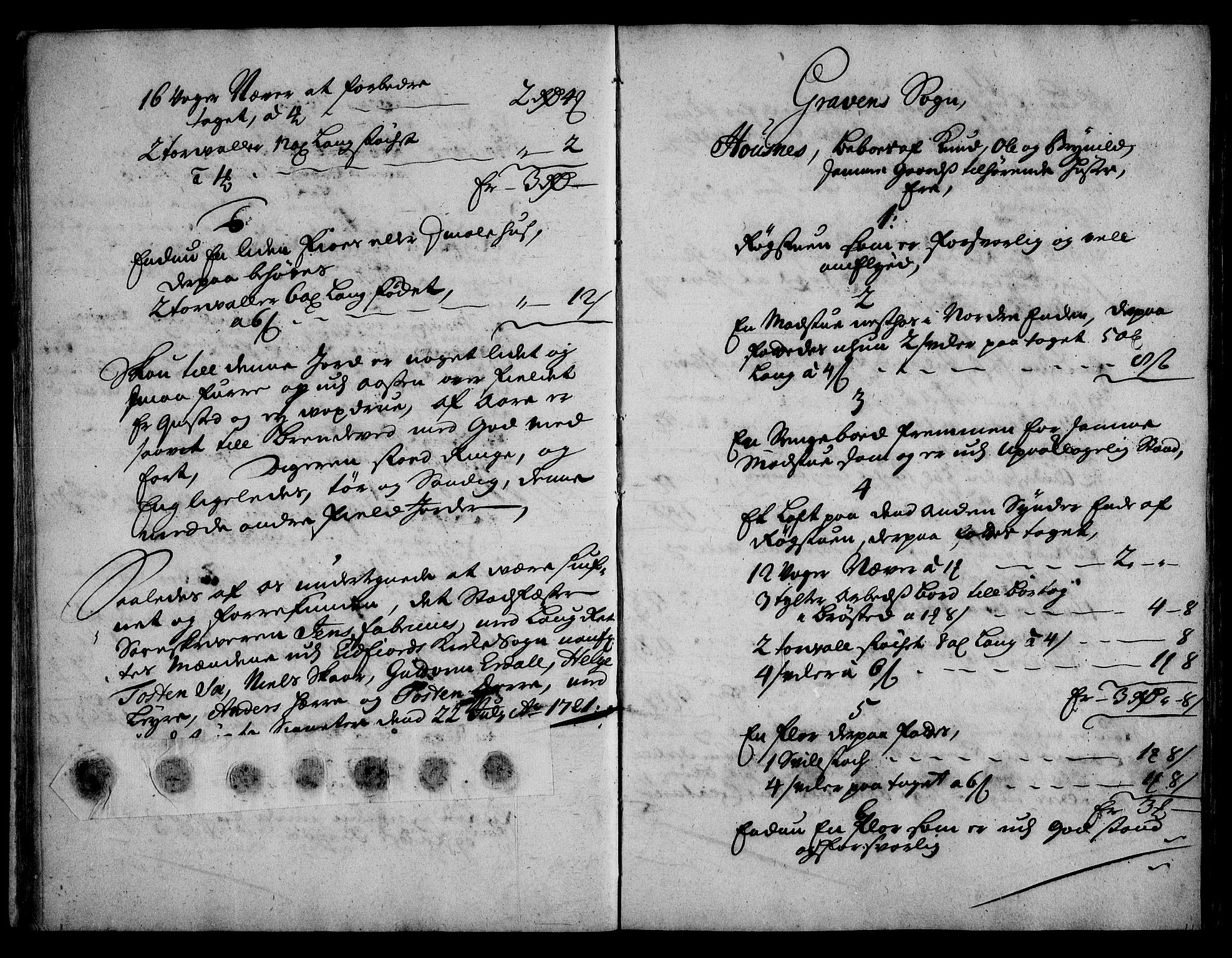 RA, Rentekammeret inntil 1814, Realistisk ordnet avdeling, On/L0003: [Jj 4]: Kommisjonsforretning over Vilhelm Hanssøns forpaktning av Halsnøy klosters gods, 1721-1729, s. 78