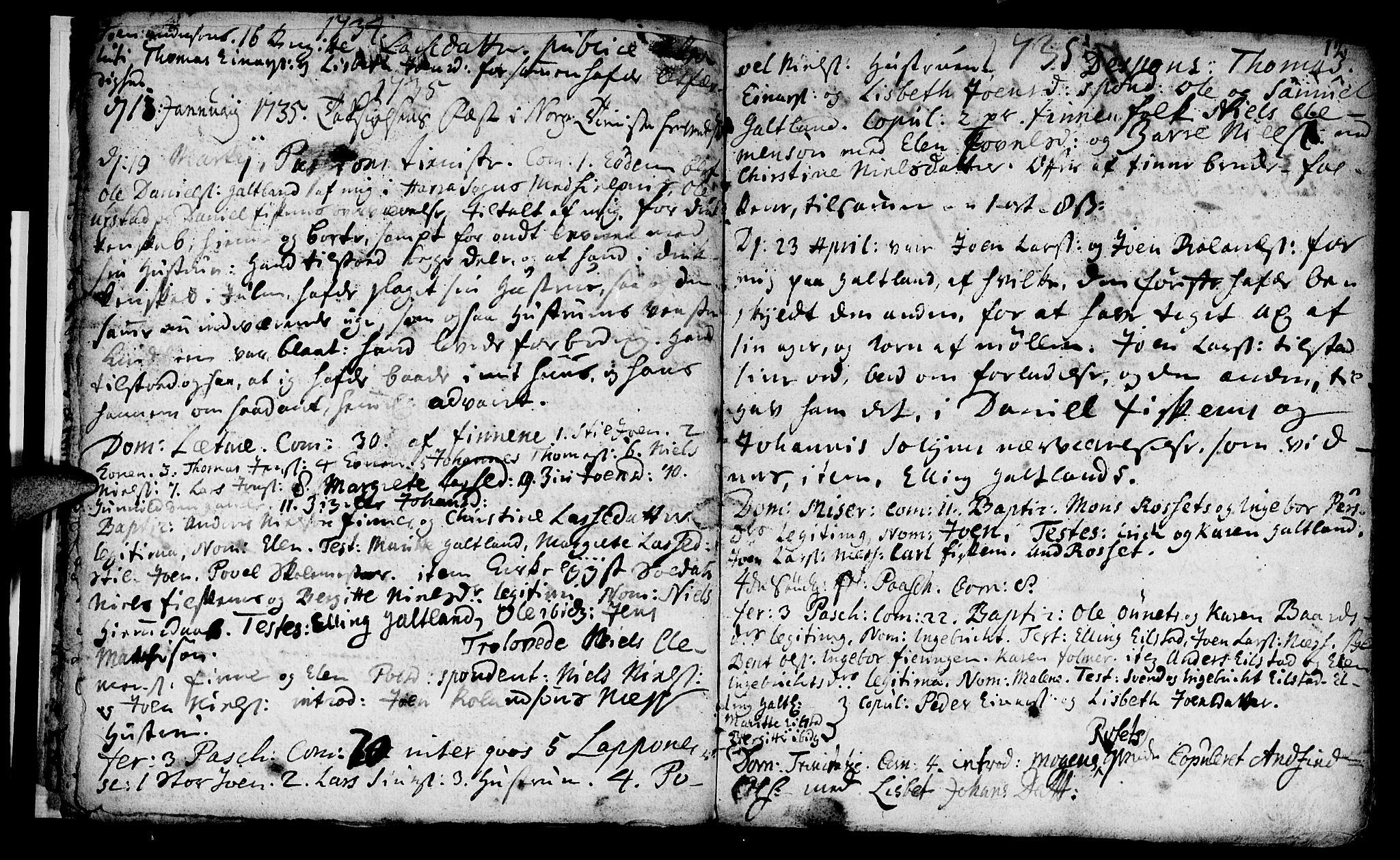 SAT, Ministerialprotokoller, klokkerbøker og fødselsregistre - Nord-Trøndelag, 759/L0525: Ministerialbok nr. 759A01, 1706-1748, s. 12