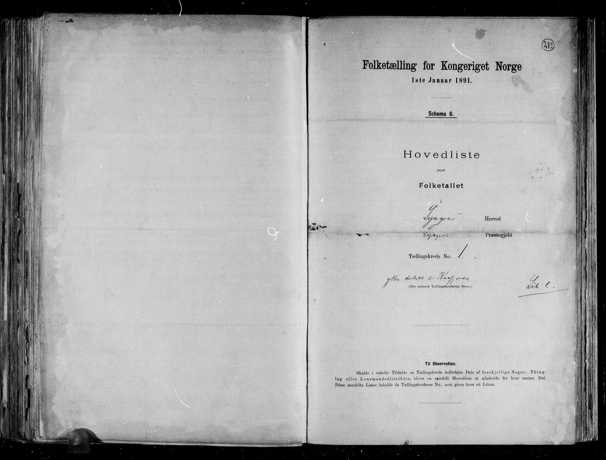RA, Folketelling 1891 for 1938 Lyngen herred, 1891, s. 4