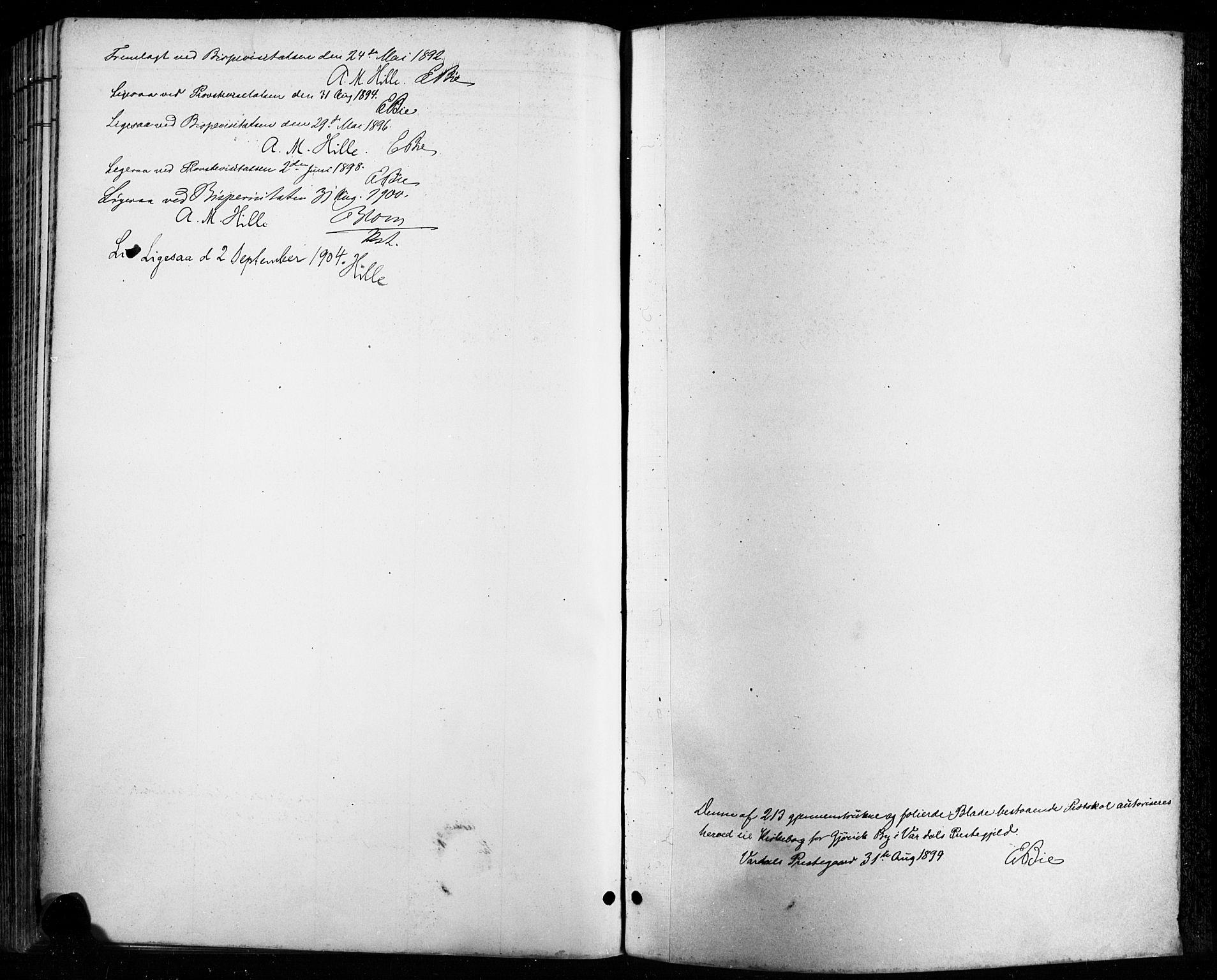 SAH, Vardal prestekontor, H/Ha/Haa/L0011: Ministerialbok nr. 11, 1891-1901