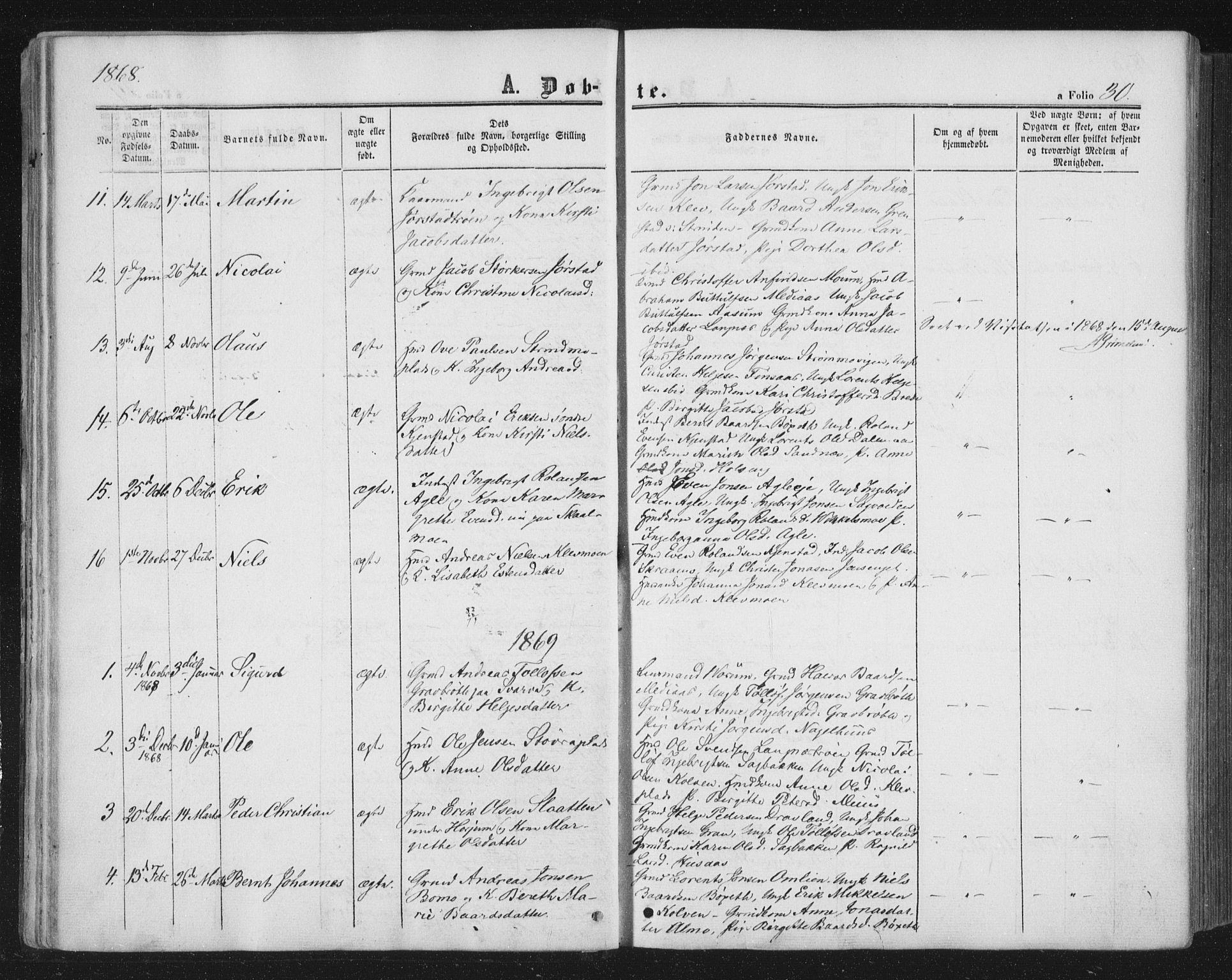 SAT, Ministerialprotokoller, klokkerbøker og fødselsregistre - Nord-Trøndelag, 749/L0472: Ministerialbok nr. 749A06, 1857-1873, s. 30