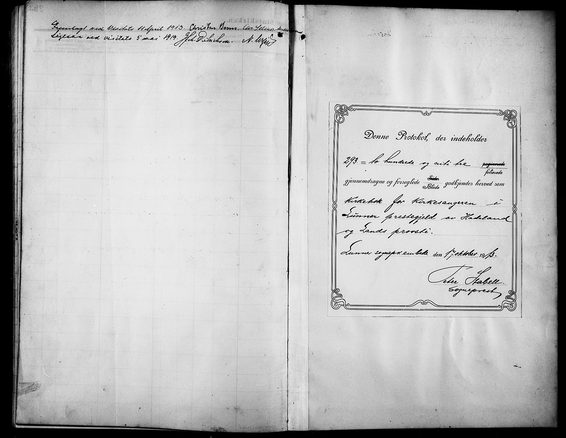 SAH, Lunner prestekontor, H/Ha/Hab/L0001: Klokkerbok nr. 1, 1909-1922