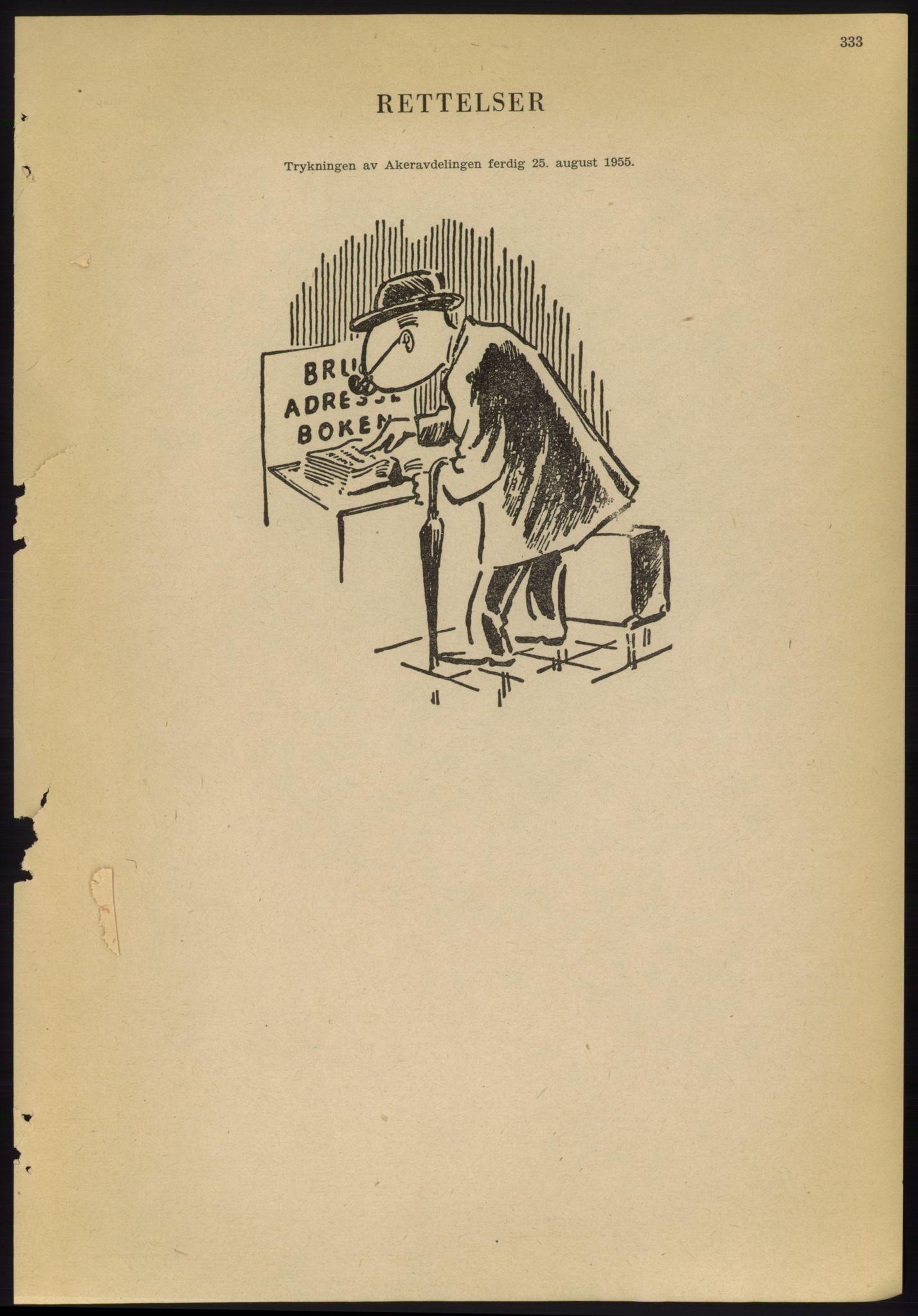 PUBL, Kristiania/Oslo adressebok, 1955, s. 333