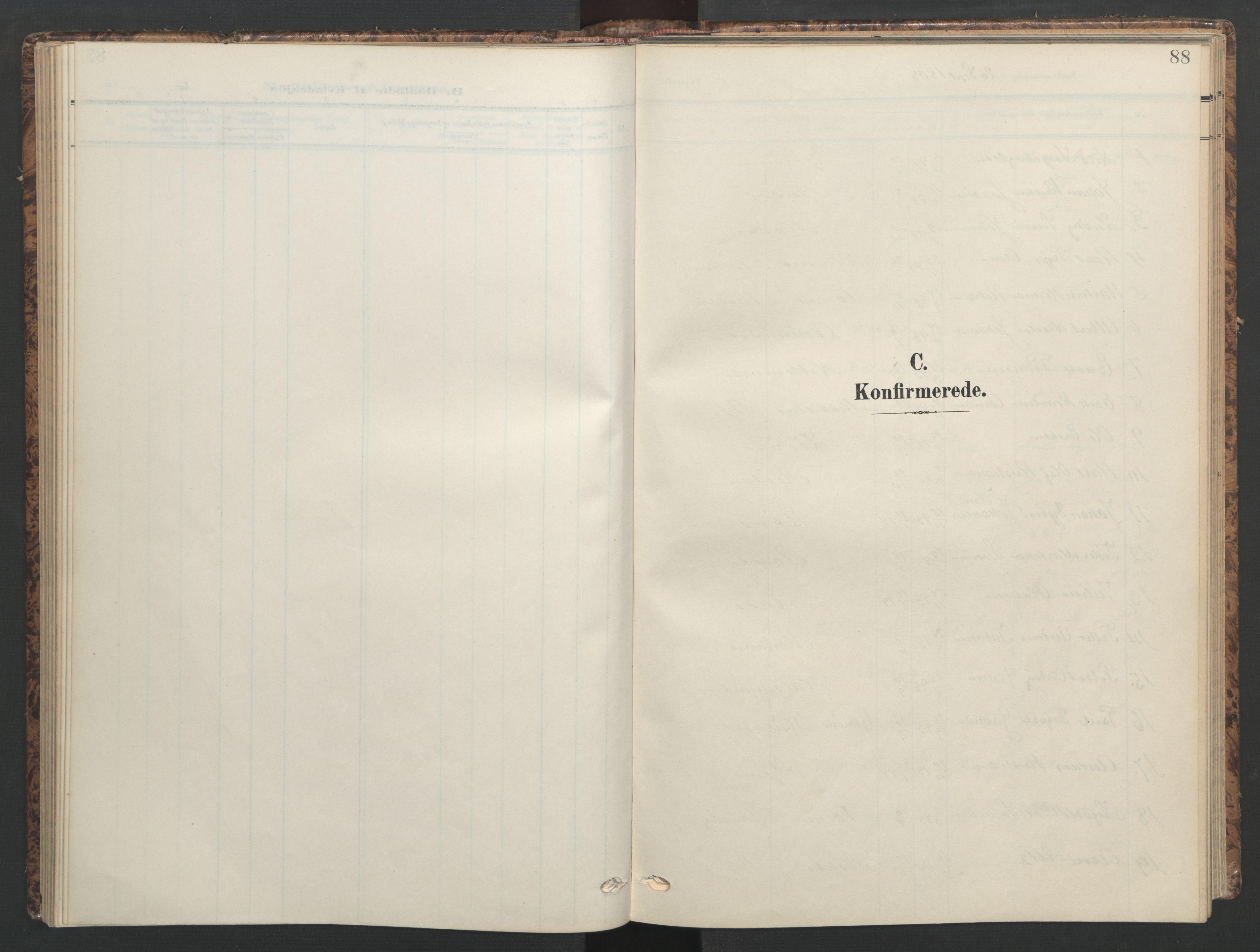 SAT, Ministerialprotokoller, klokkerbøker og fødselsregistre - Sør-Trøndelag, 655/L0682: Ministerialbok nr. 655A11, 1908-1922, s. 88