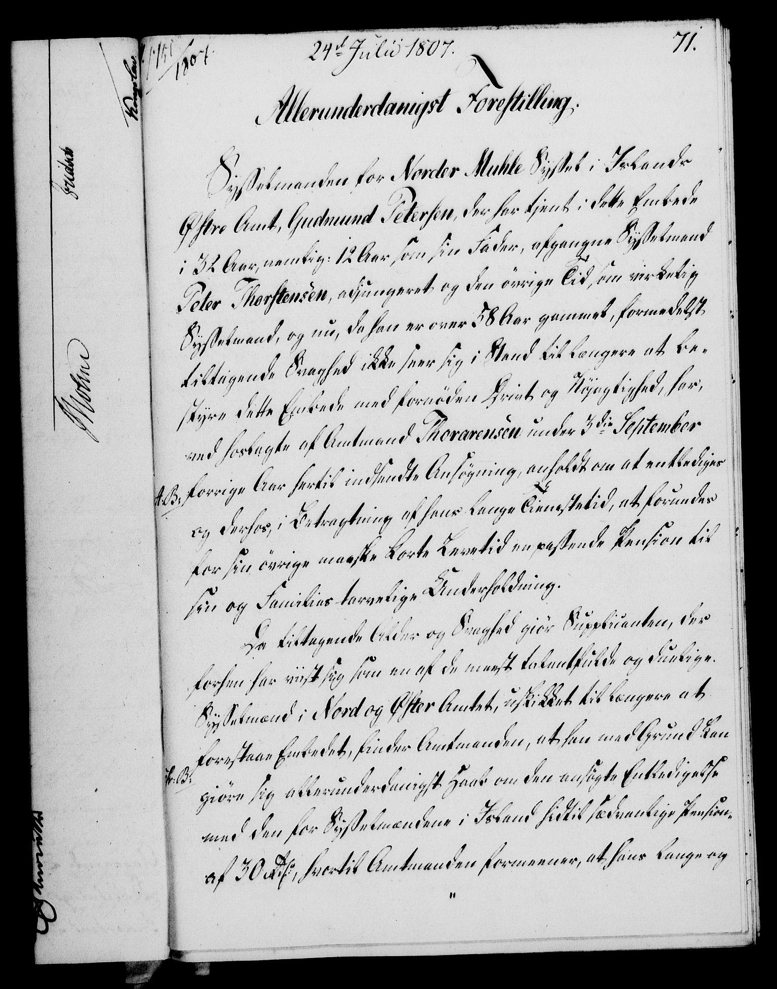 RA, Rentekammeret, Kammerkanselliet, G/Gf/Gfa/L0089: Norsk relasjons- og resolusjonsprotokoll (merket RK 52.89), 1807, s. 436