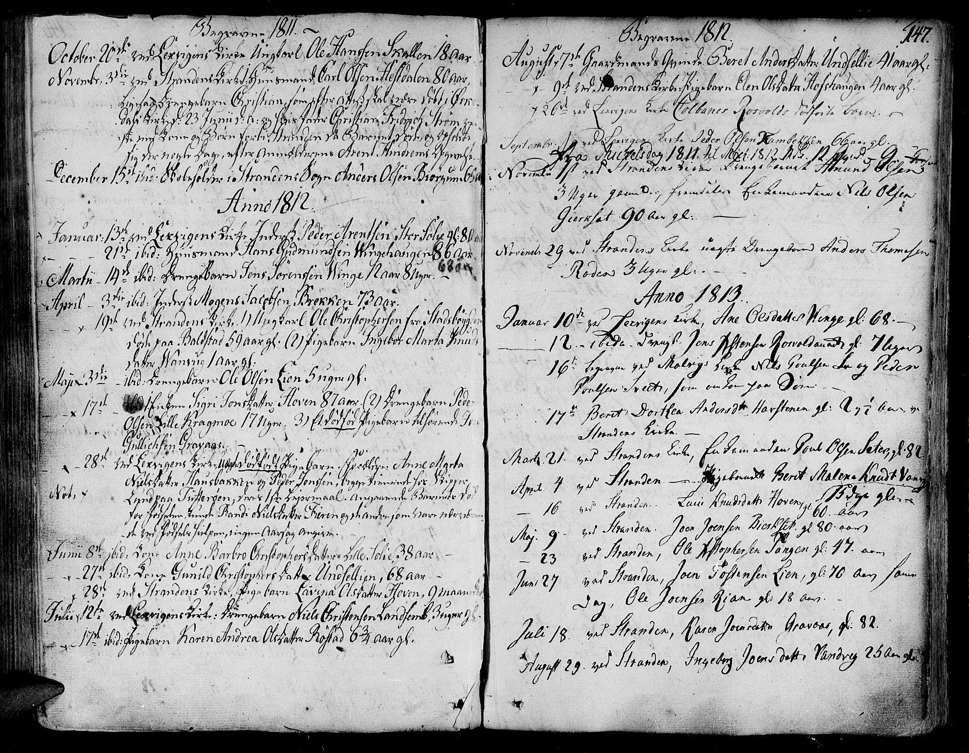 SAT, Ministerialprotokoller, klokkerbøker og fødselsregistre - Nord-Trøndelag, 701/L0004: Ministerialbok nr. 701A04, 1783-1816, s. 147