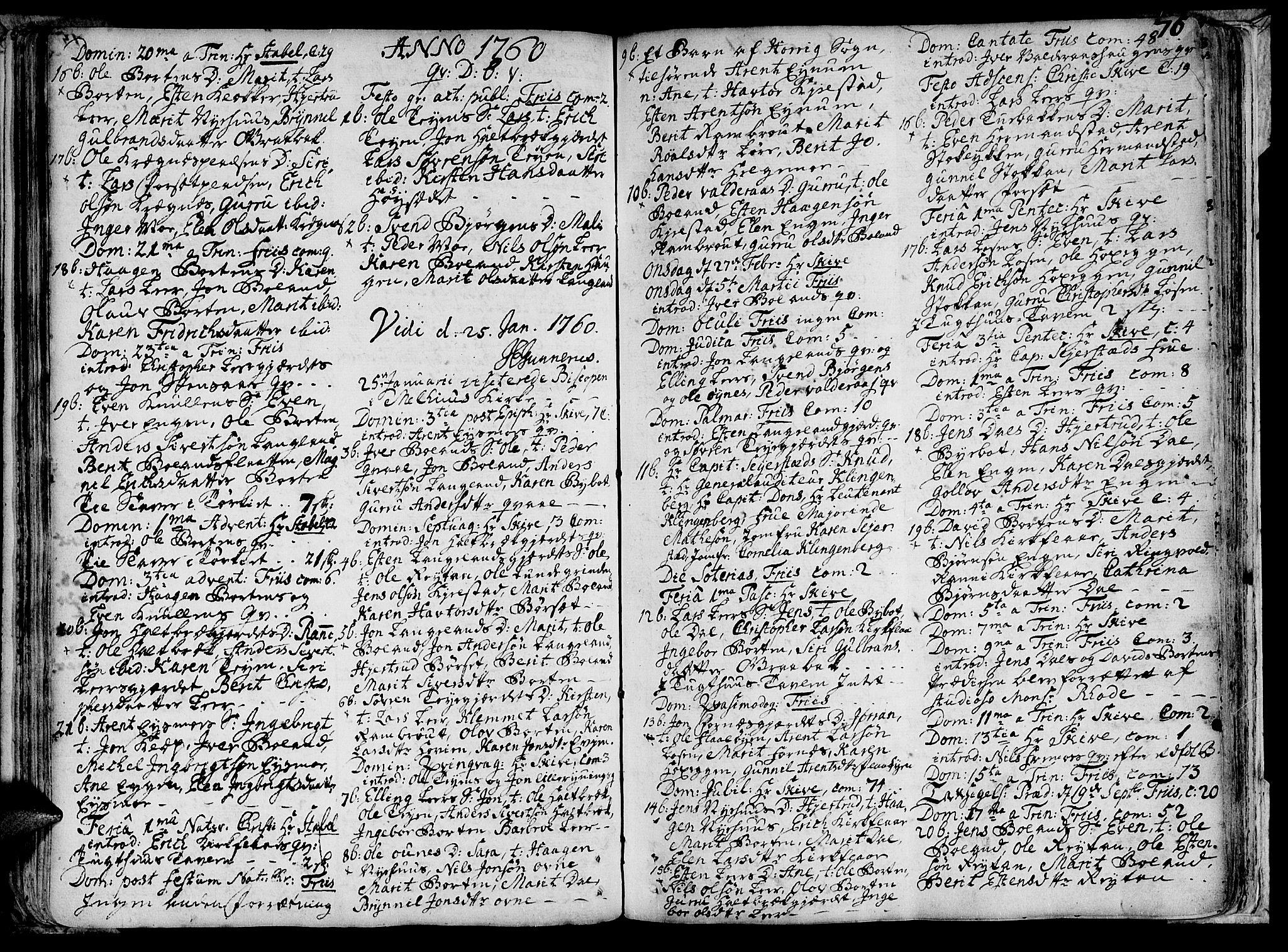 SAT, Ministerialprotokoller, klokkerbøker og fødselsregistre - Sør-Trøndelag, 691/L1058: Ministerialbok nr. 691A01 /2, 1740-1767, s. 76
