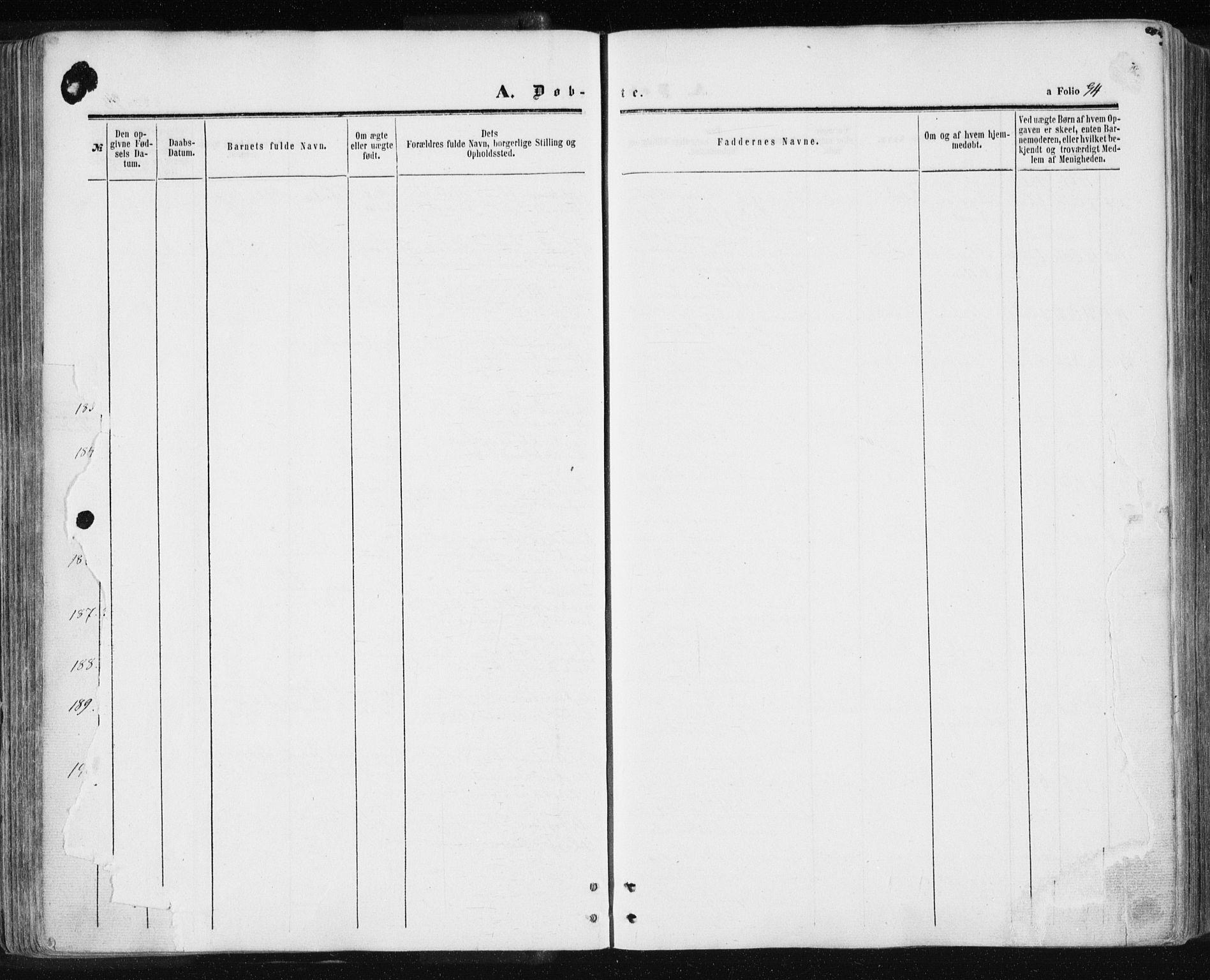 SAT, Ministerialprotokoller, klokkerbøker og fødselsregistre - Sør-Trøndelag, 601/L0053: Ministerialbok nr. 601A21, 1857-1865, s. 94