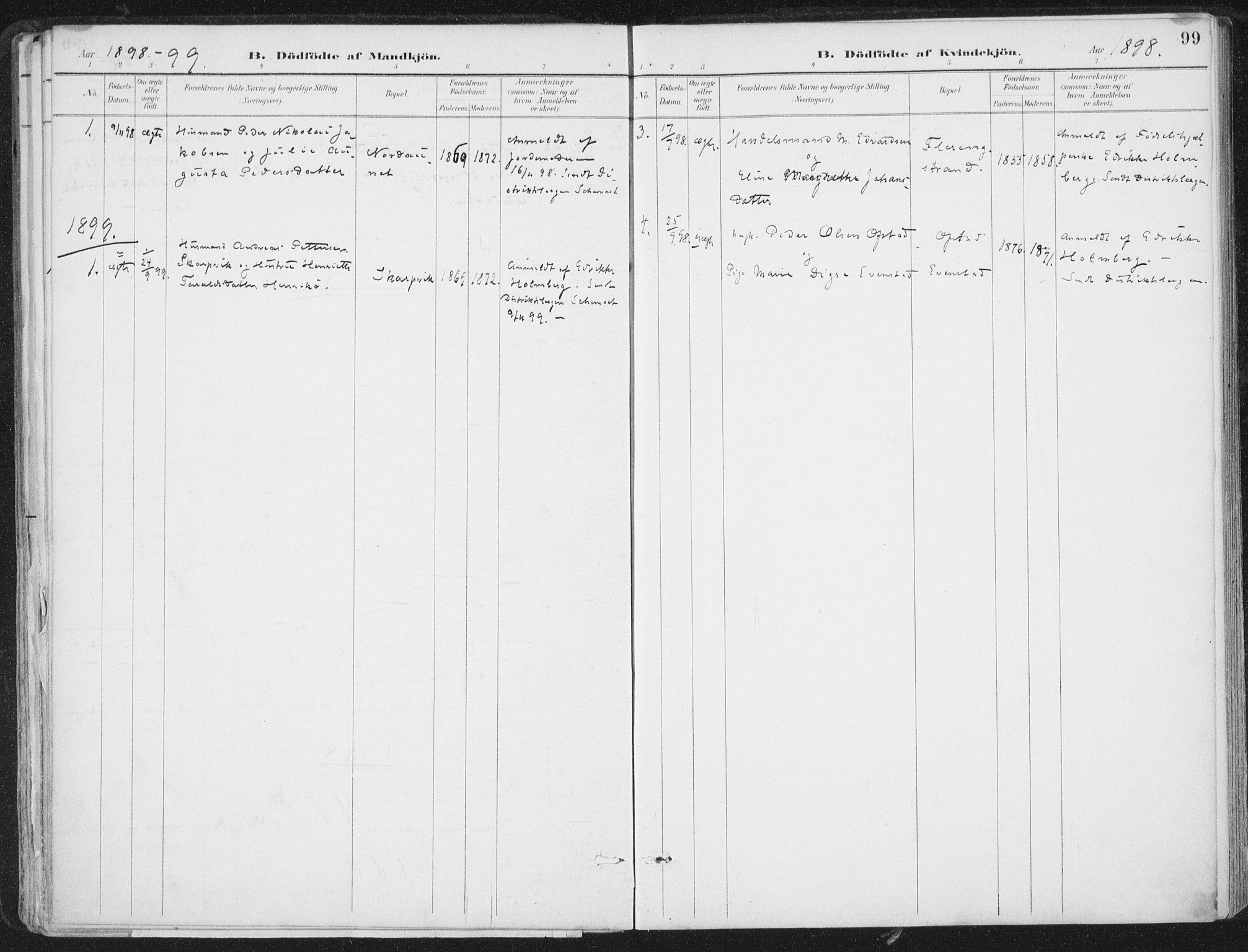 SAT, Ministerialprotokoller, klokkerbøker og fødselsregistre - Nord-Trøndelag, 786/L0687: Ministerialbok nr. 786A03, 1888-1898, s. 99