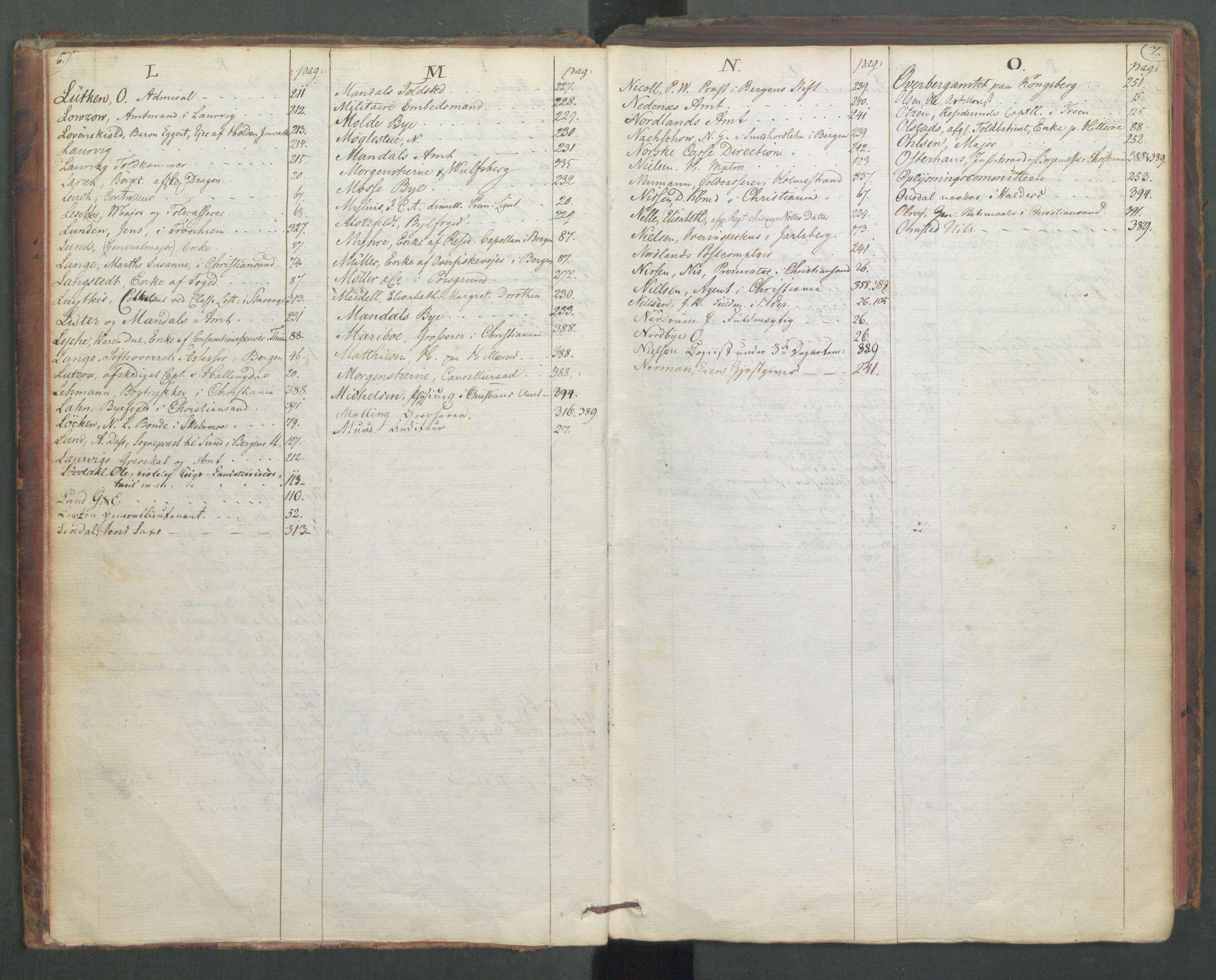 RA, Departementene i 1814, Fa/L0009: 1. byrå - Fellesregister til journalene A og B, 1814, s. 6-7