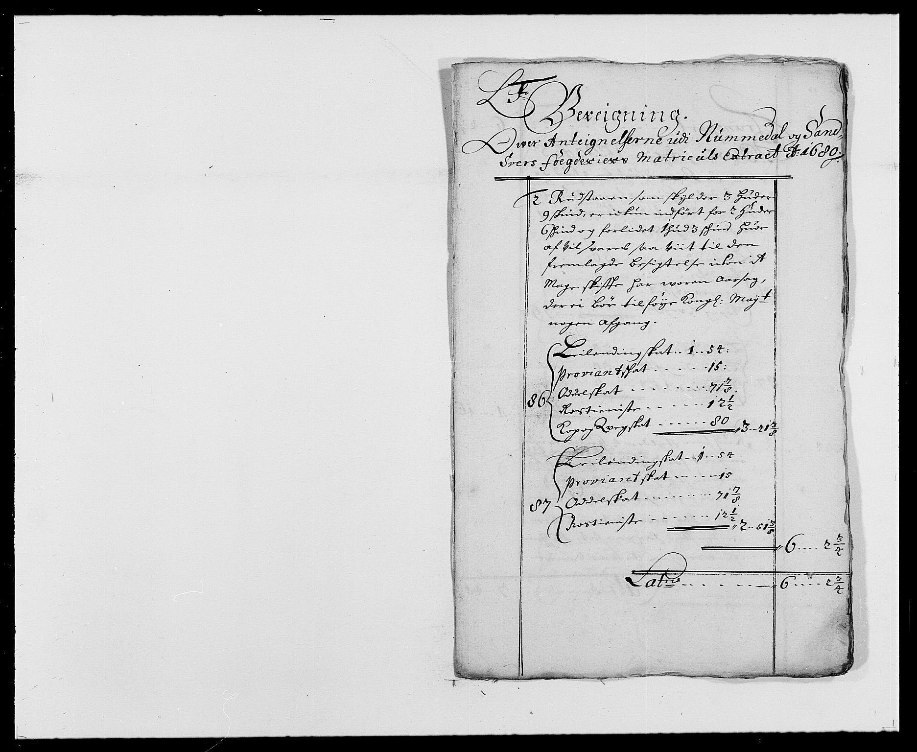 RA, Rentekammeret inntil 1814, Reviderte regnskaper, Fogderegnskap, R24/L1573: Fogderegnskap Numedal og Sandsvær, 1687-1691, s. 293