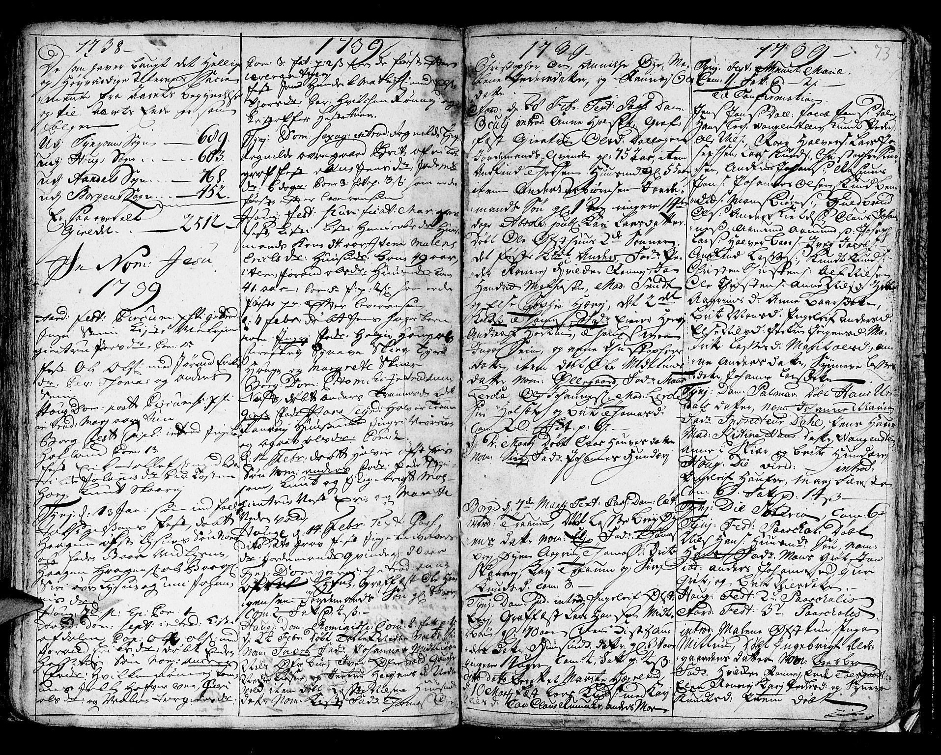SAB, Lærdal sokneprestembete, Ministerialbok nr. A 1, 1711-1752, s. 73