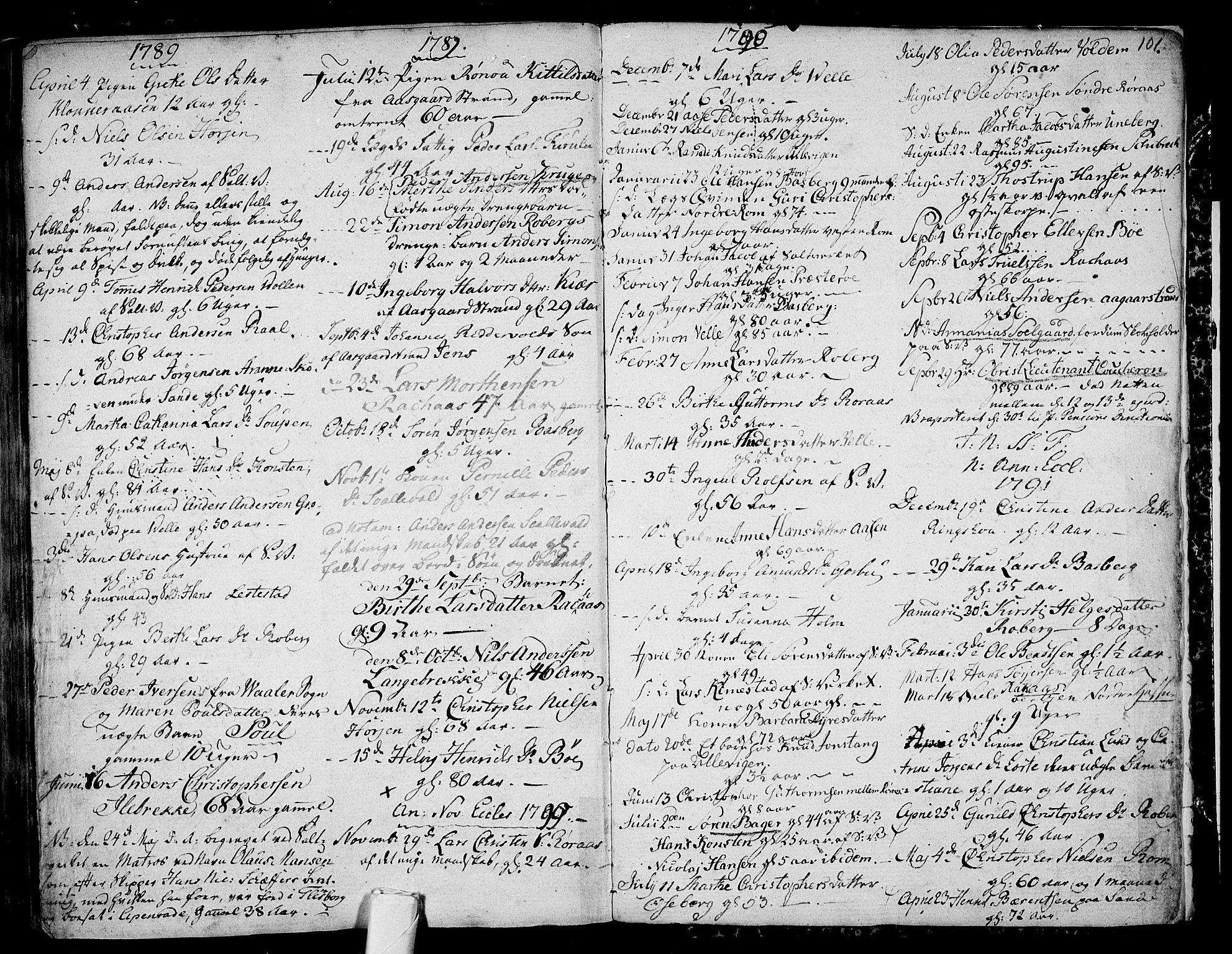 SAKO, Sem kirkebøker, F/Fb/L0002: Ministerialbok nr. II 2, 1764-1792, s. 101