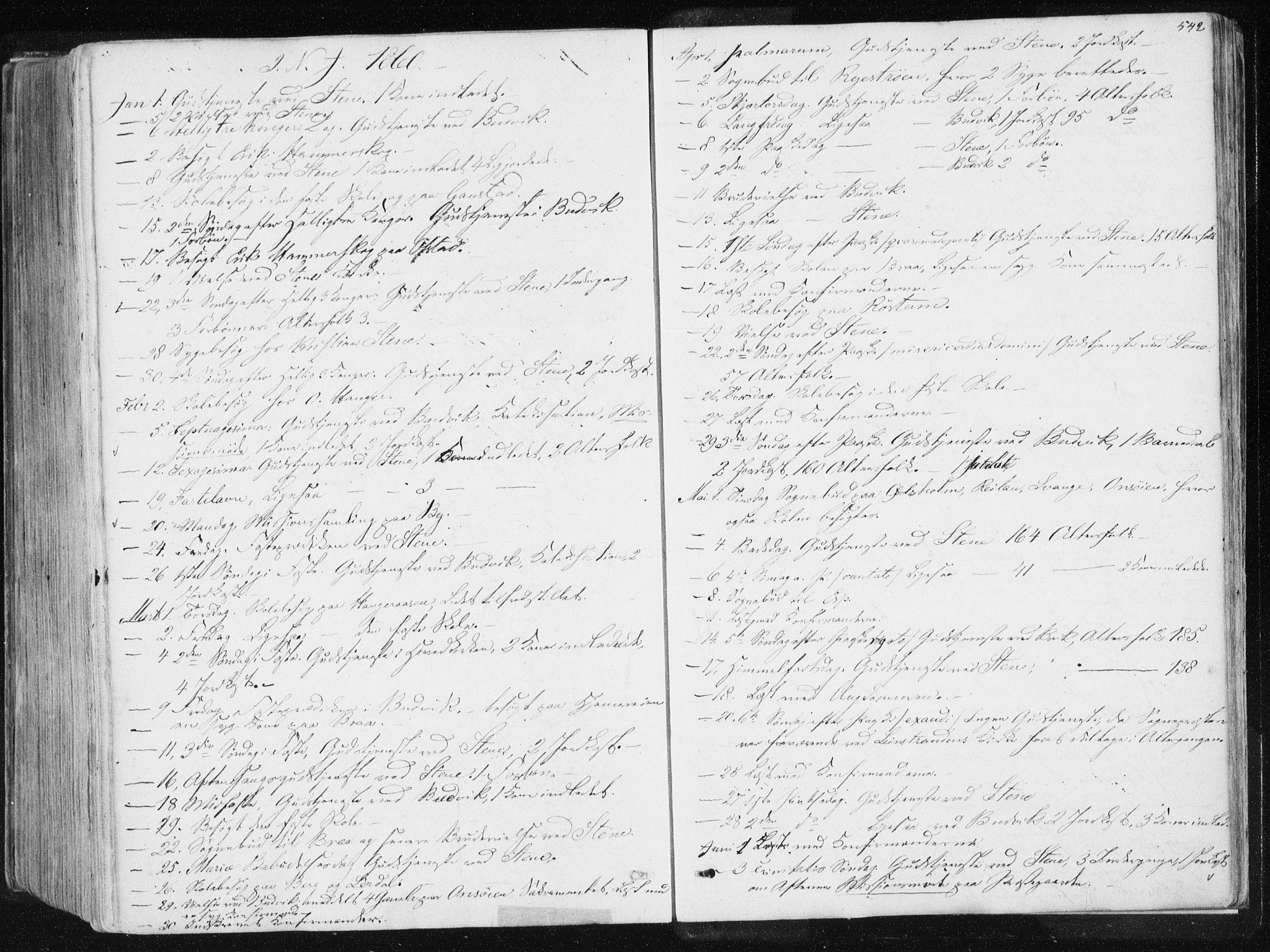 SAT, Ministerialprotokoller, klokkerbøker og fødselsregistre - Sør-Trøndelag, 612/L0377: Ministerialbok nr. 612A09, 1859-1877, s. 542