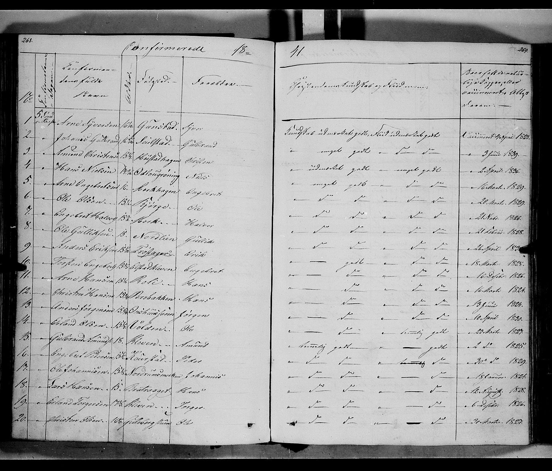 SAH, Ringebu prestekontor, Ministerialbok nr. 5, 1839-1848, s. 268-269