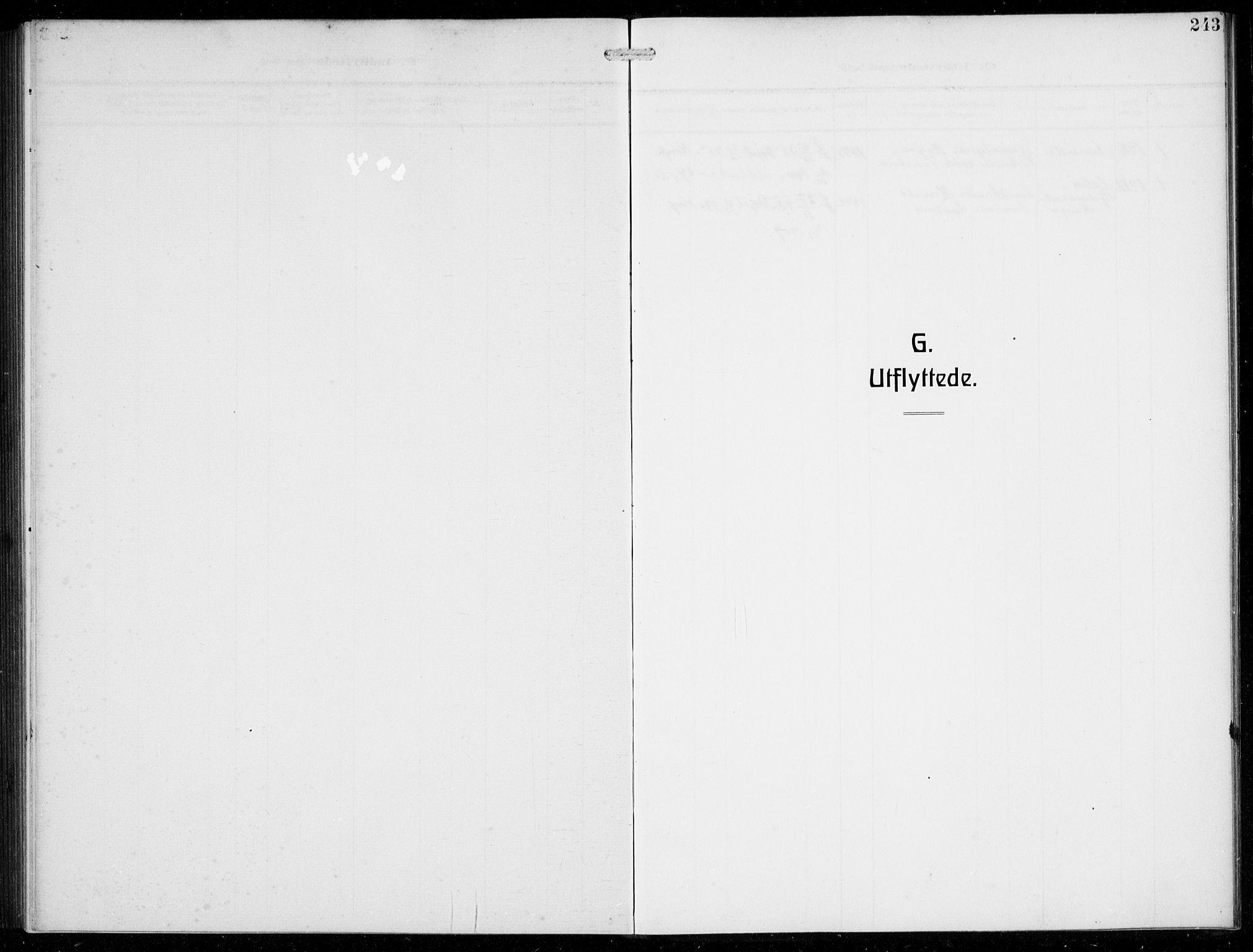 SAB, Masfjorden Soknepresembete, Klokkerbok nr. B  2, 1912-1939, s. 243