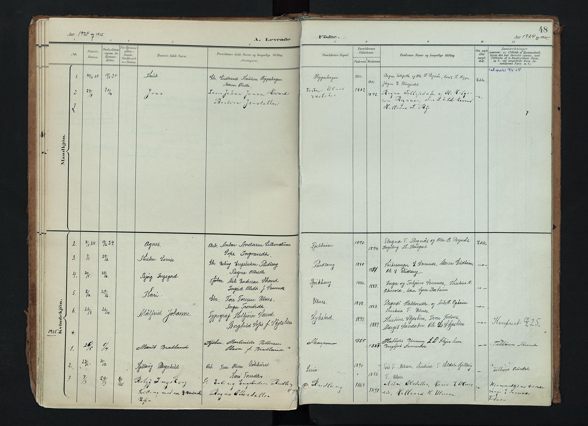 SAH, Nord-Aurdal prestekontor, Ministerialbok nr. 17, 1897-1926, s. 48