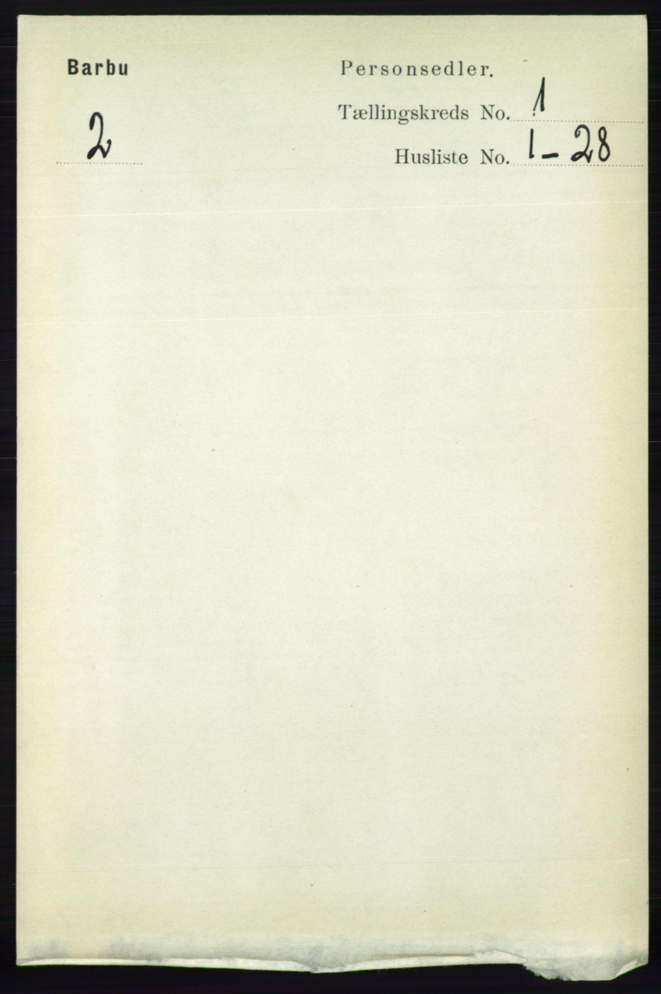RA, Folketelling 1891 for 0990 Barbu herred, 1891, s. 129