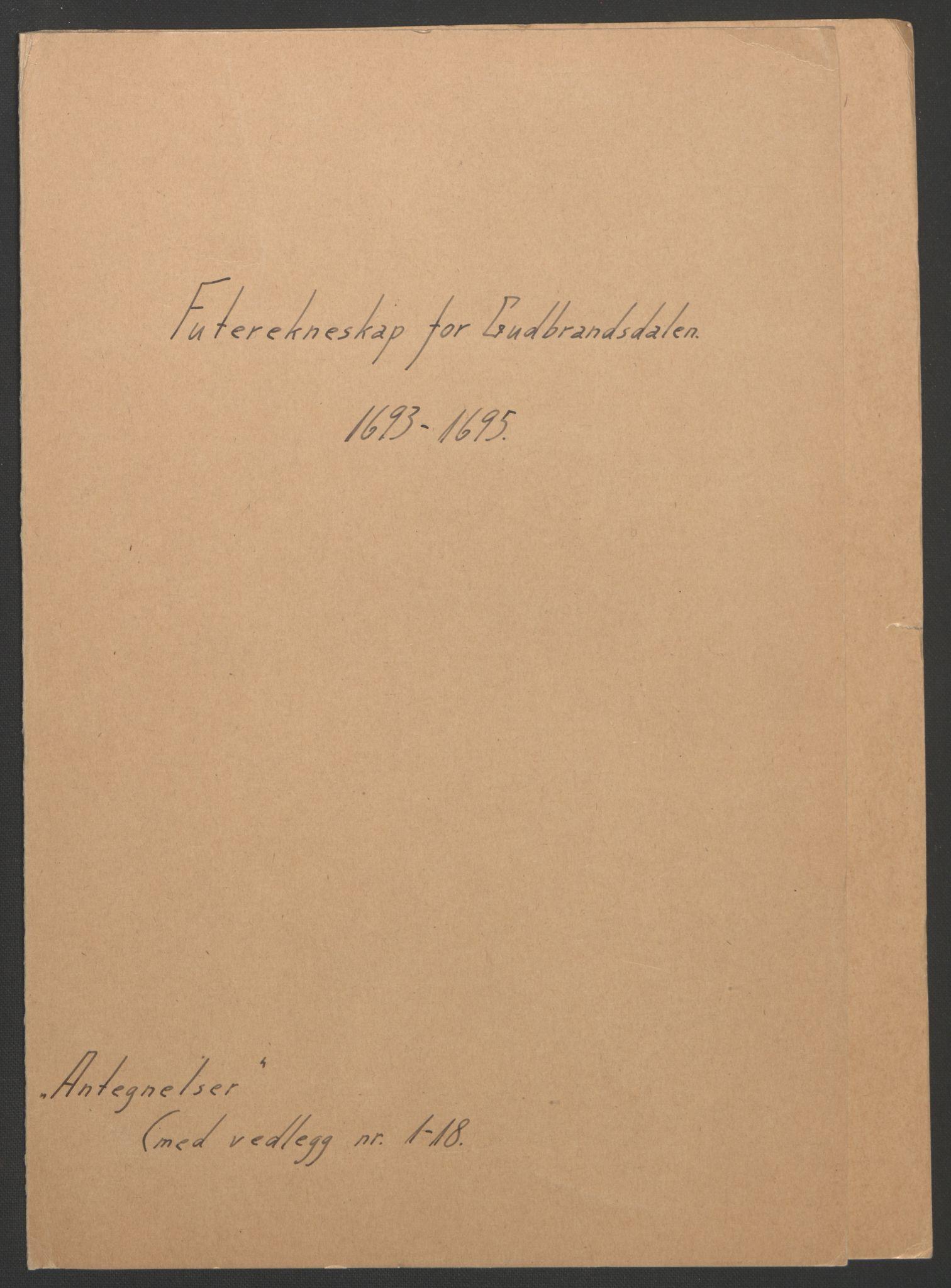 RA, Rentekammeret inntil 1814, Reviderte regnskaper, Fogderegnskap, R17/L1169: Fogderegnskap Gudbrandsdal, 1695, s. 190