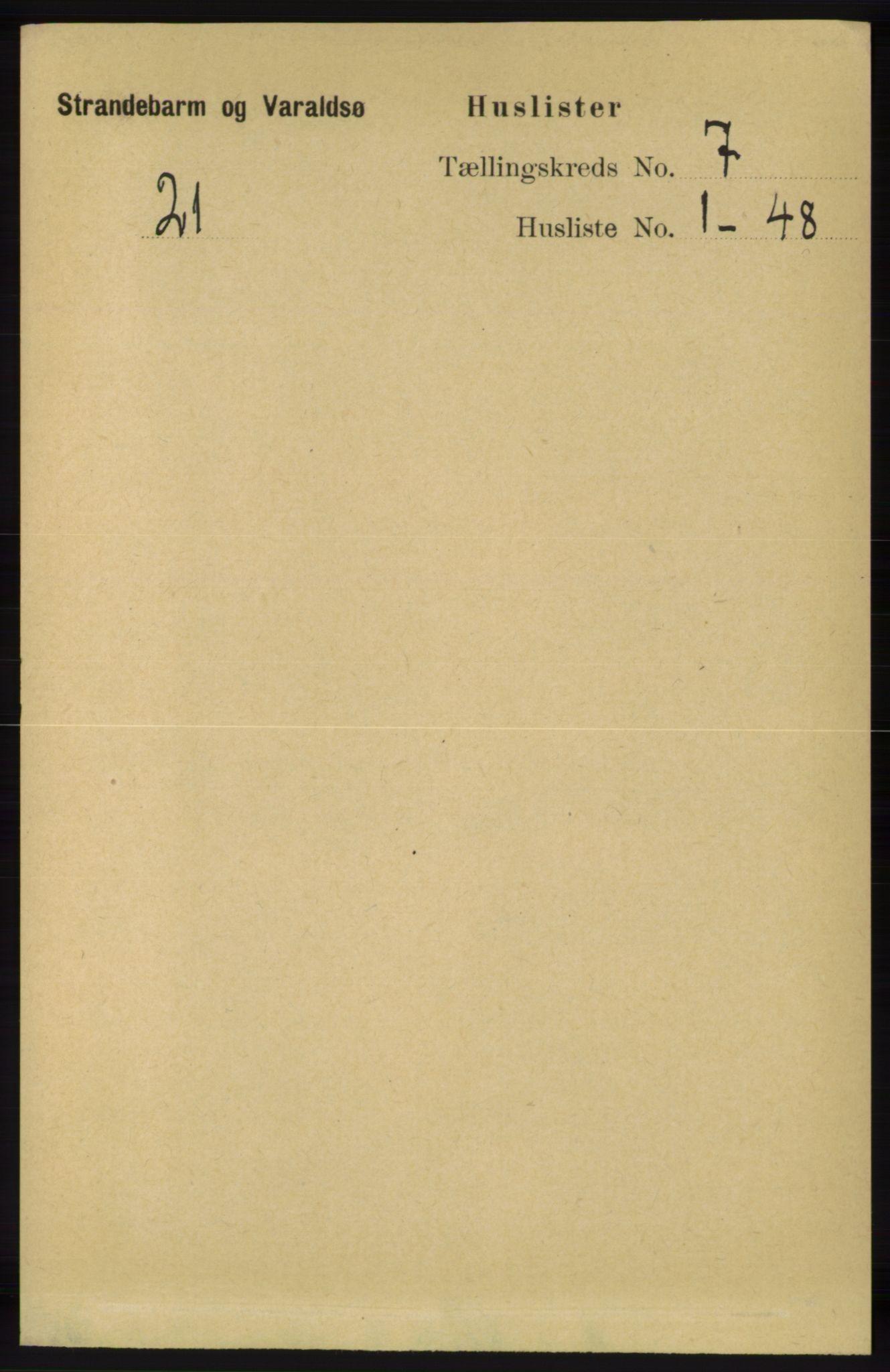 RA, Folketelling 1891 for 1226 Strandebarm og Varaldsøy herred, 1891, s. 2585