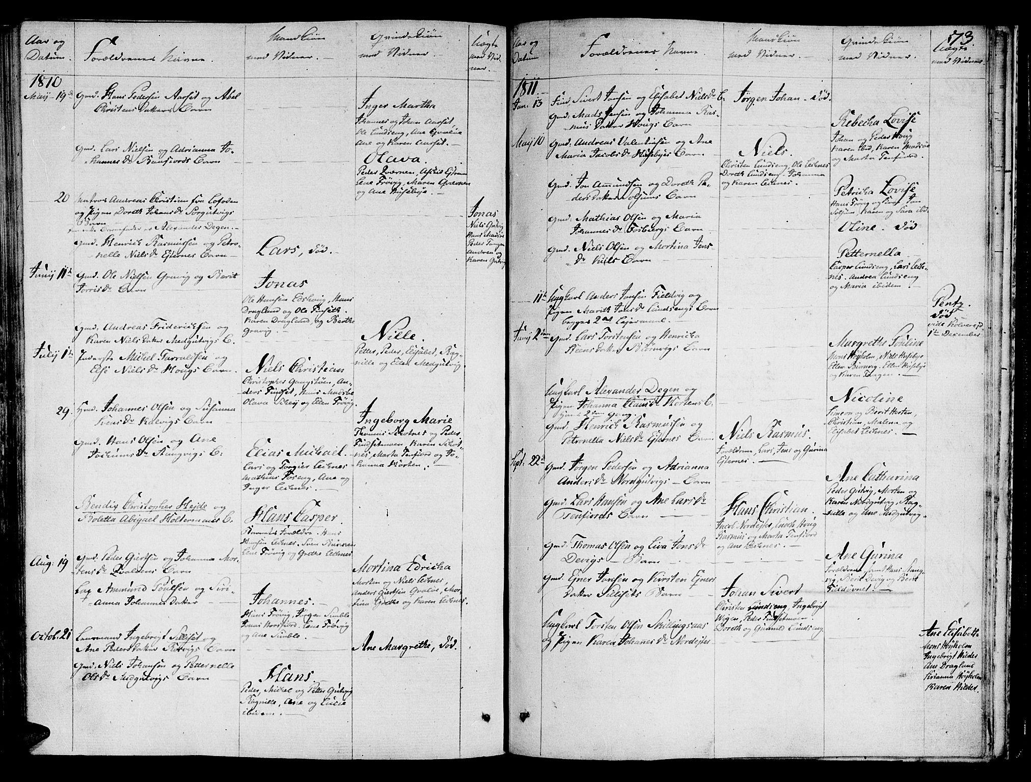 SAT, Ministerialprotokoller, klokkerbøker og fødselsregistre - Nord-Trøndelag, 780/L0633: Ministerialbok nr. 780A02 /2, 1806-1814, s. 73