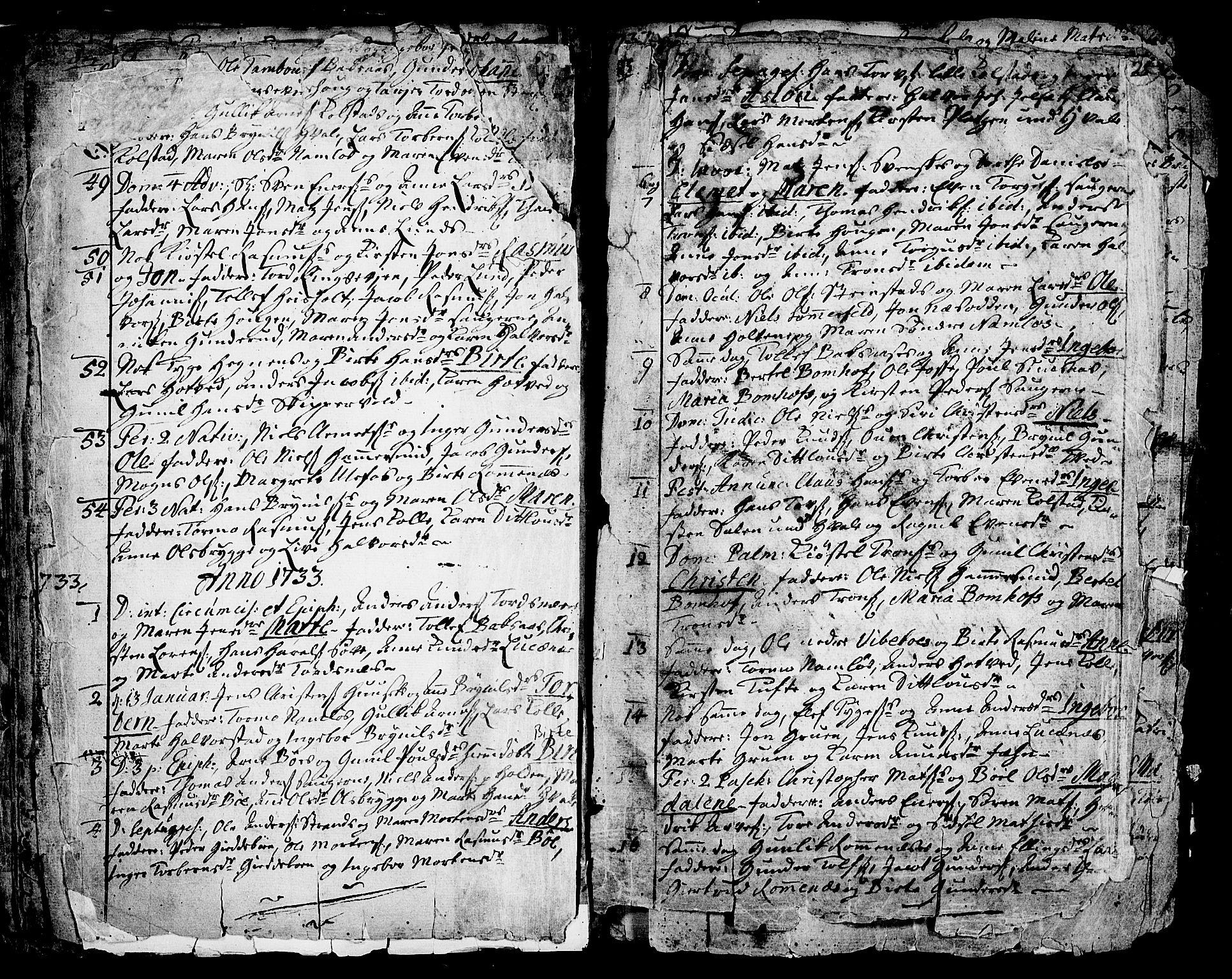 SAKO, Holla kirkebøker, F/Fa/L0001: Ministerialbok nr. 1, 1717-1779, s. 22